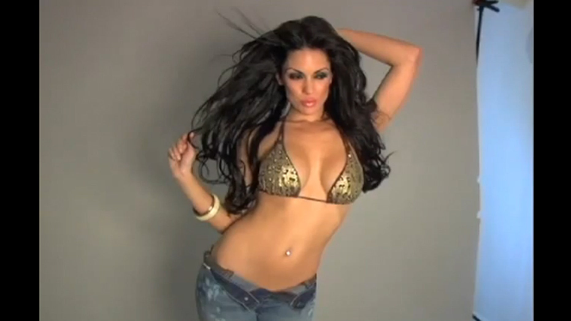 Carissa Rosario is seen posing for a photo shoot.