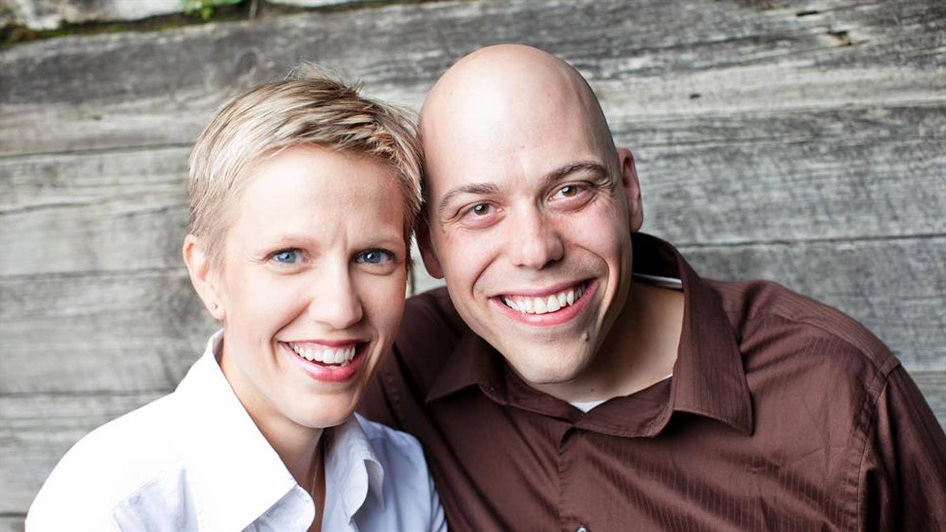 Author Angel Larsen and her husband
