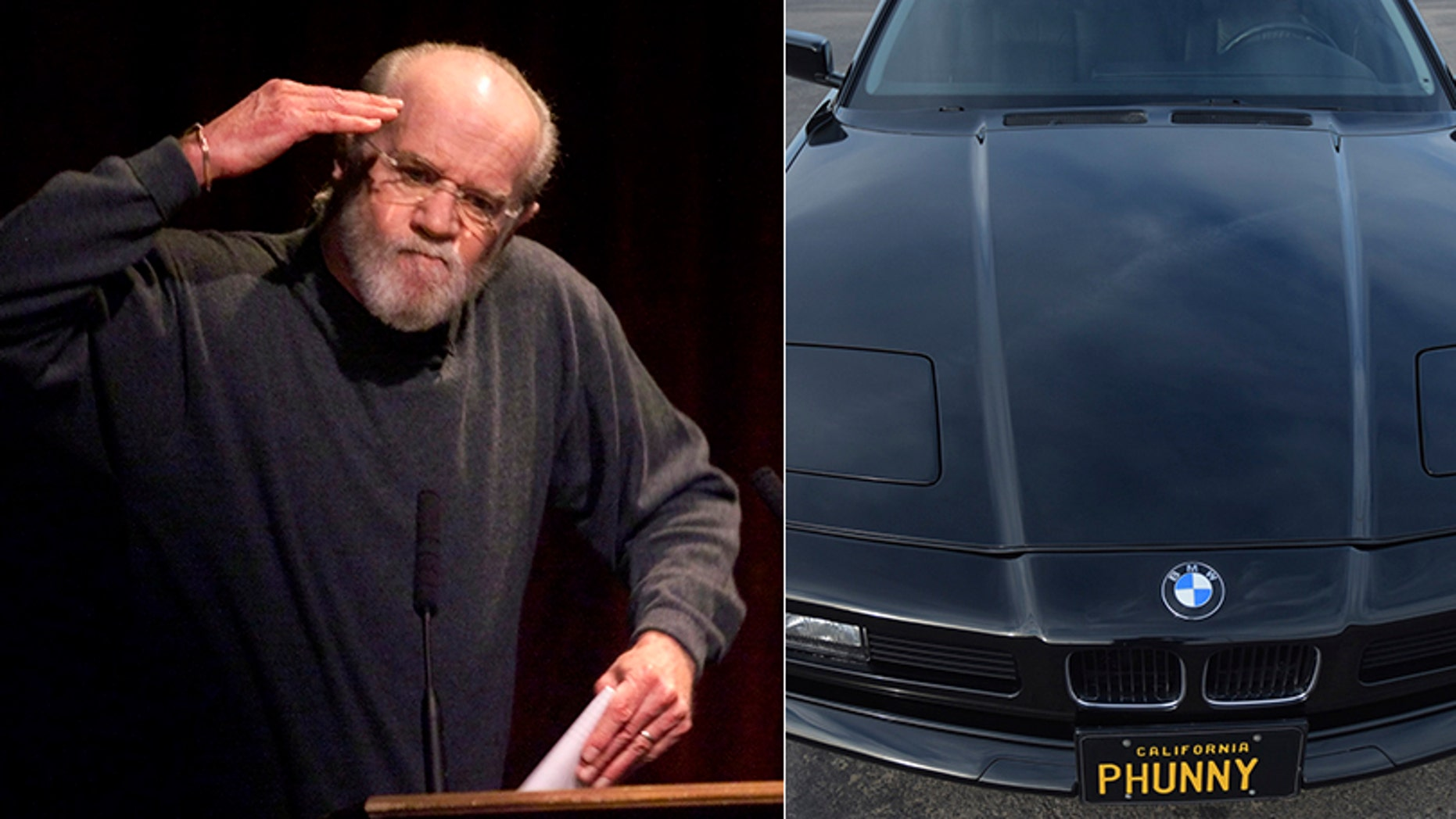 According to the listing, Carlin drove the 1996 BMW 850Ci from new until his death in 2008 and left it to his daughter Kelly.