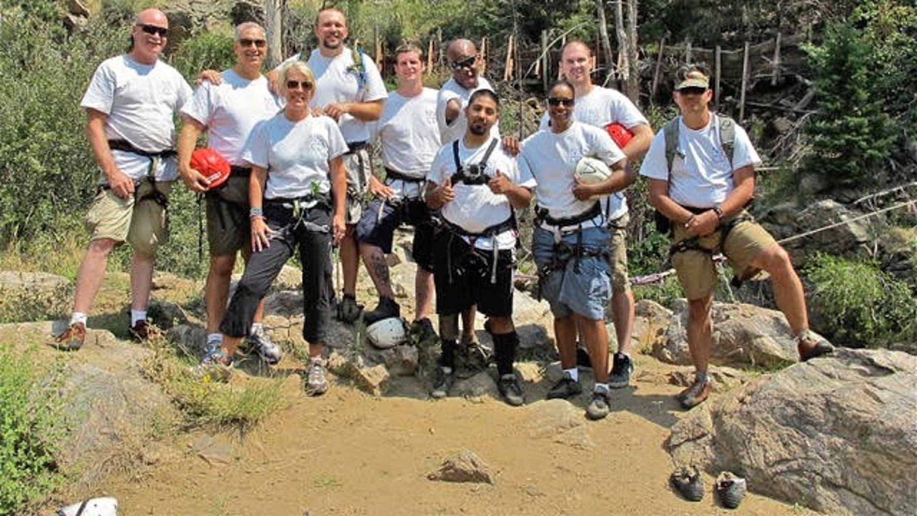 Carlos Gomez with several other combat-wounded veterans on the No Boundaries inaugural trip to Colorado in 2013.