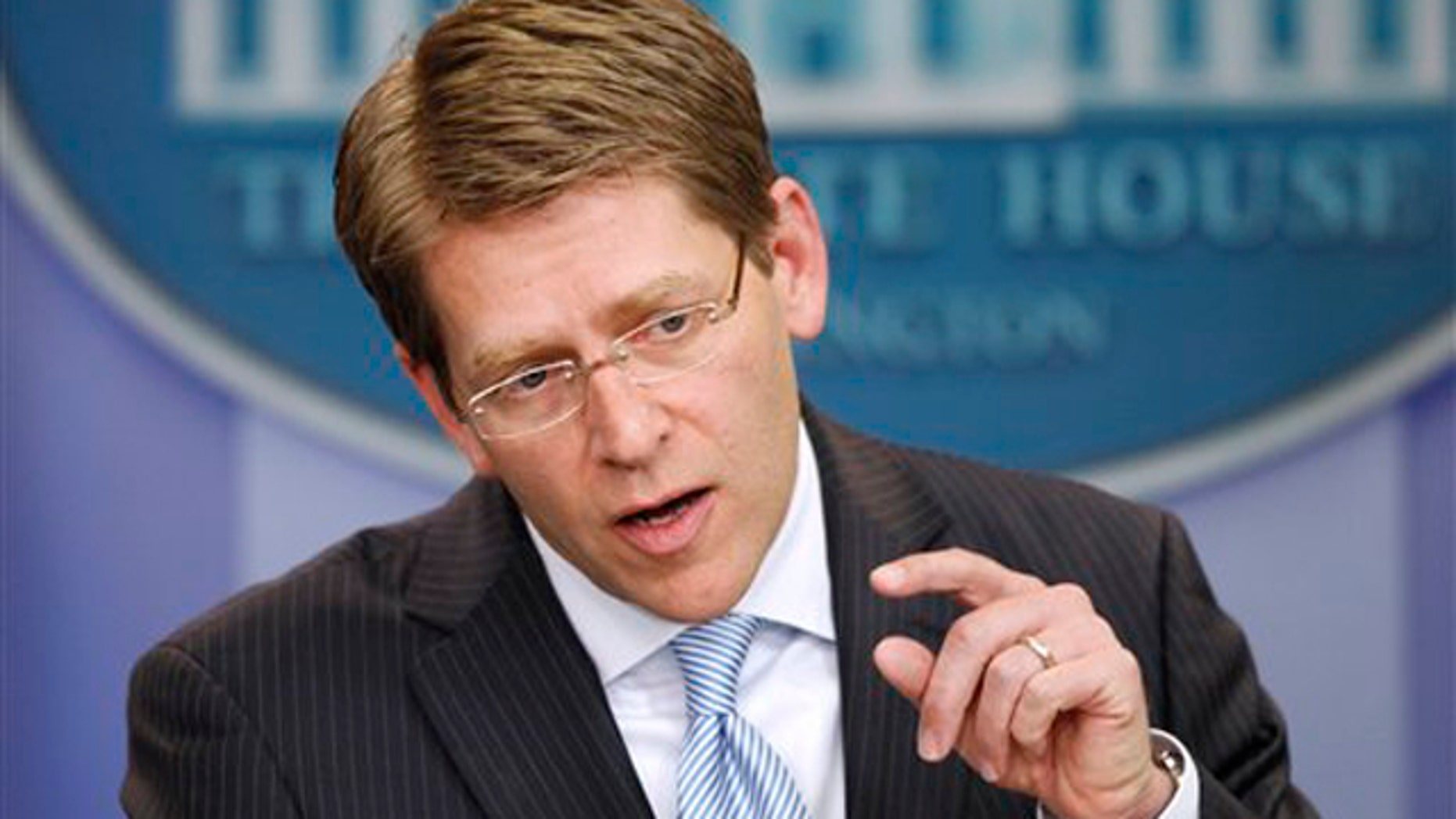 White House Press Secretary Jay Carney speaks May 4 during the daily briefing at the White House in Washington.