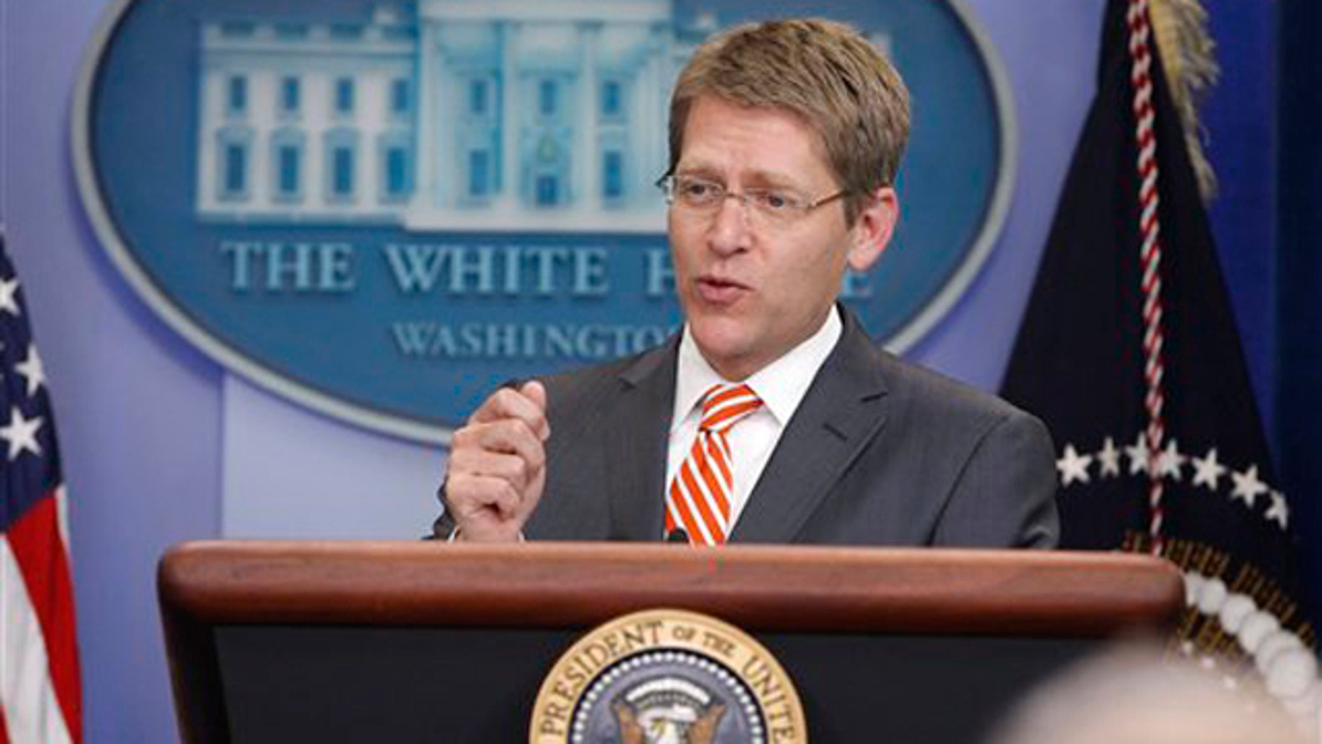 White House Press Secretary Jay Carney briefs reporters at the White House July 5.