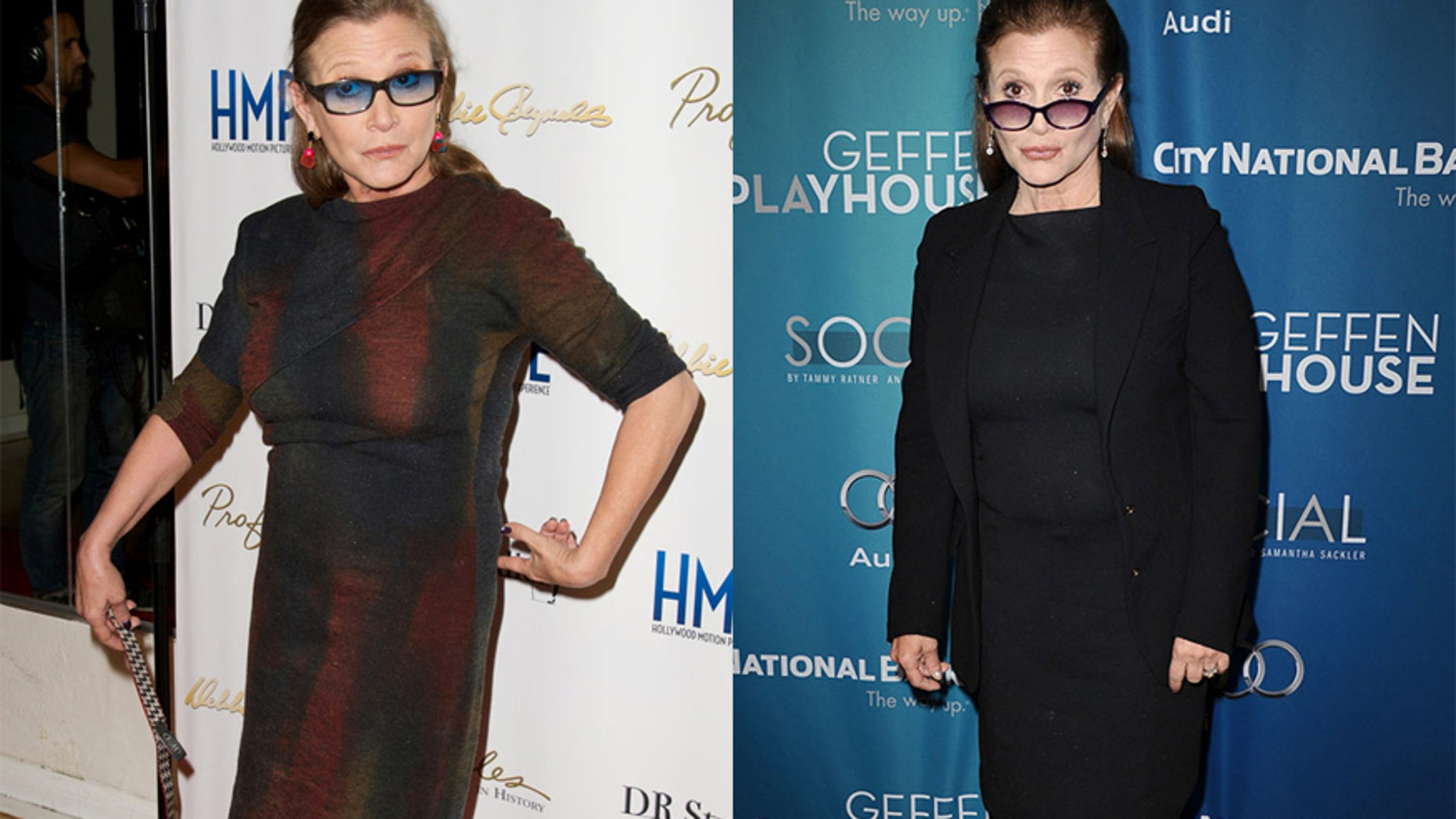 Actress Carrie Fisher debuted her 35 pounds ligther bod.
