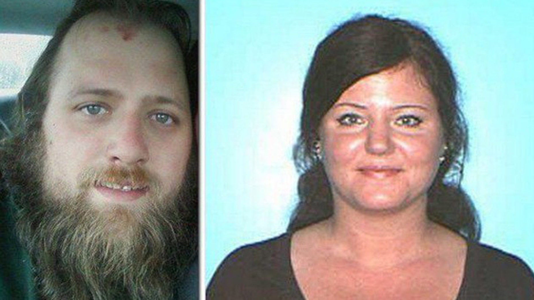 Joseph Carrier, left, and Jennifer Carrier were arrested after cops said they committed a string of bank robberies along the East Coast.