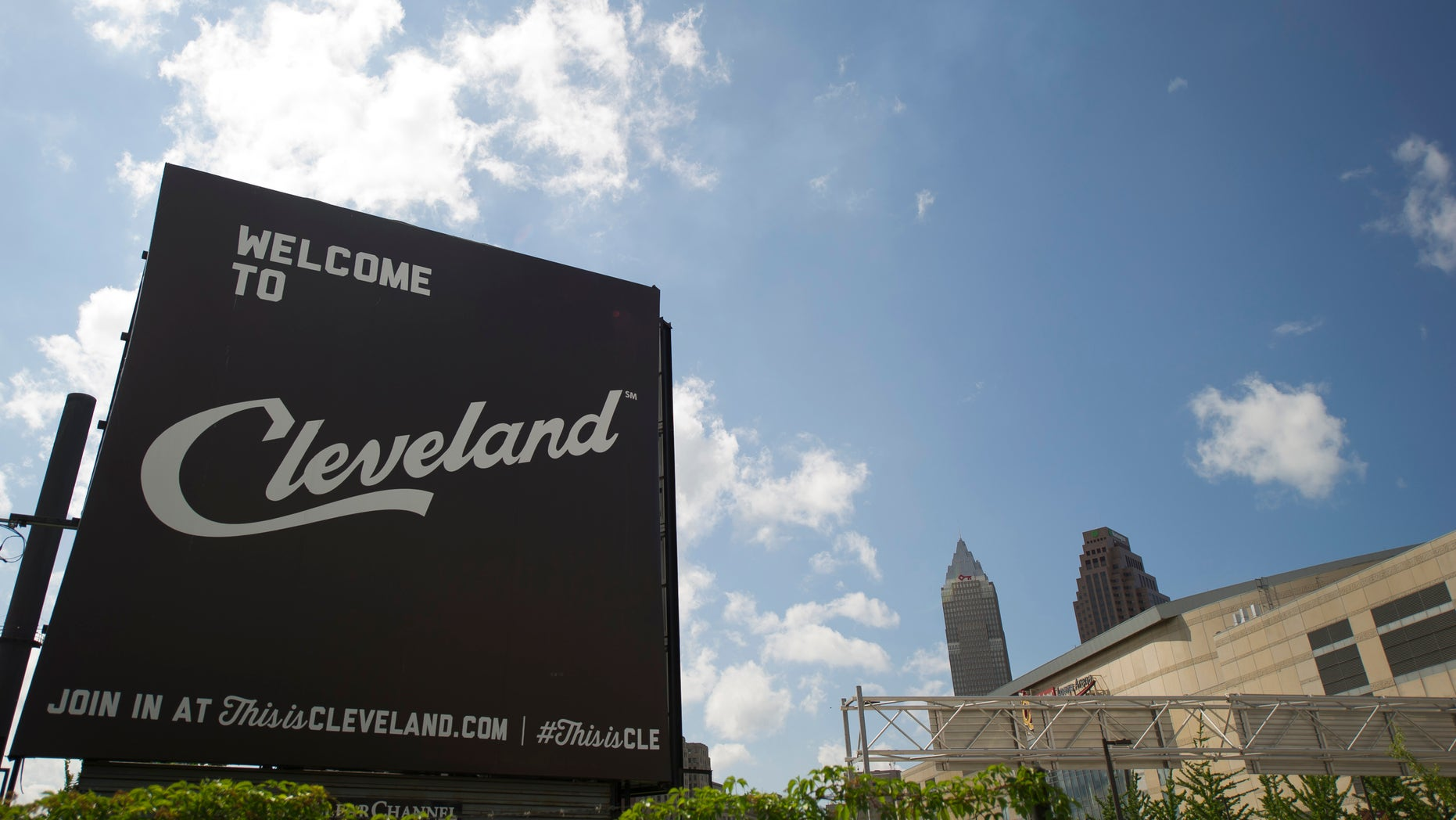 CLEVELAND, OH  - JULY 8: A view of downtown Cleveland, which has been chosen for the 2016 Republican National Convention, on July 8, 2014 in Clevland, Ohio.  The 2016 event will be held at the Quicken Loans Arena.  (Photo by Jeff Swensen/Getty Images)