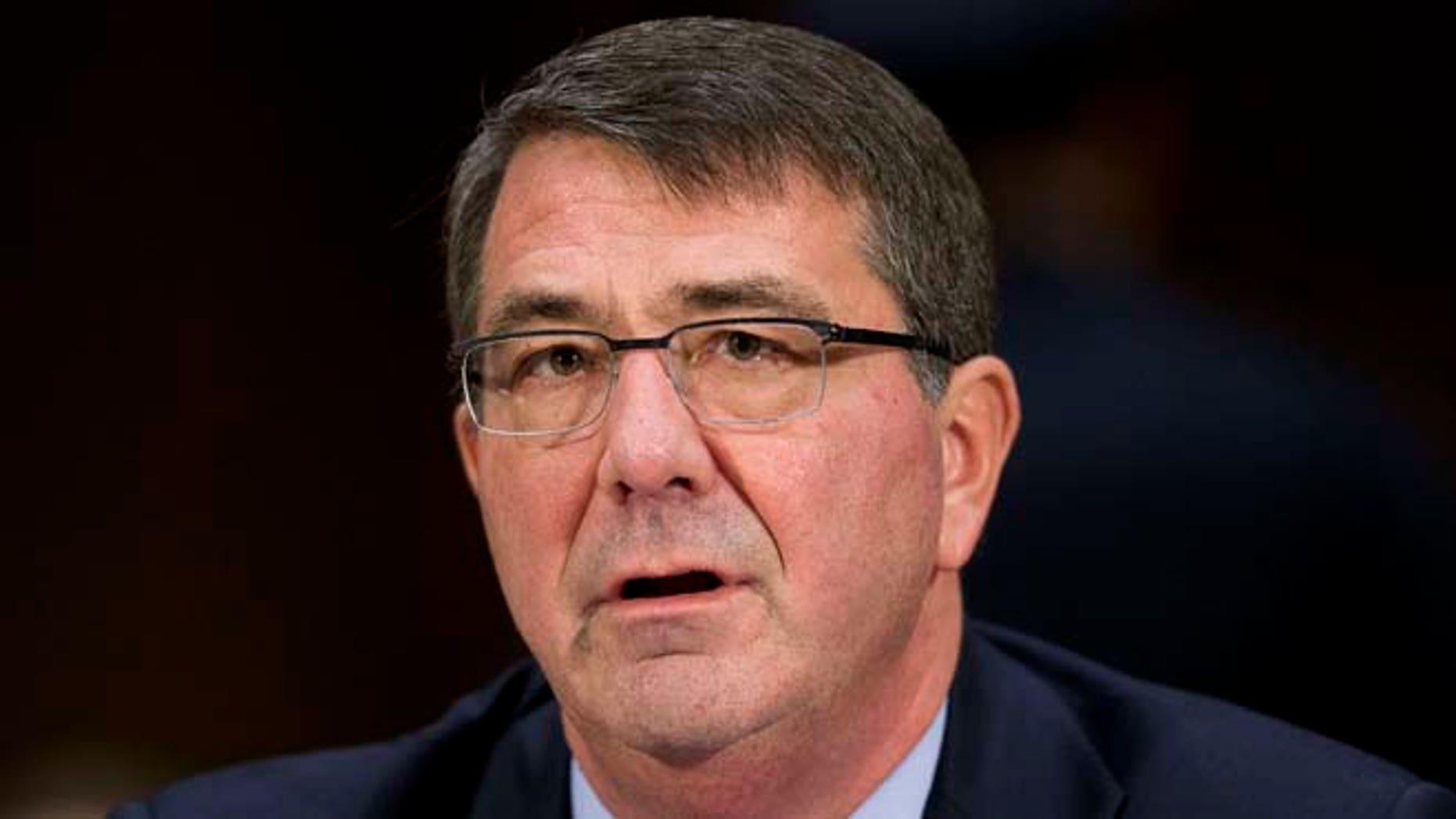 March 11, 2015: Defense Secretary Ash Carter testifies on Capitol Hill in Washington.