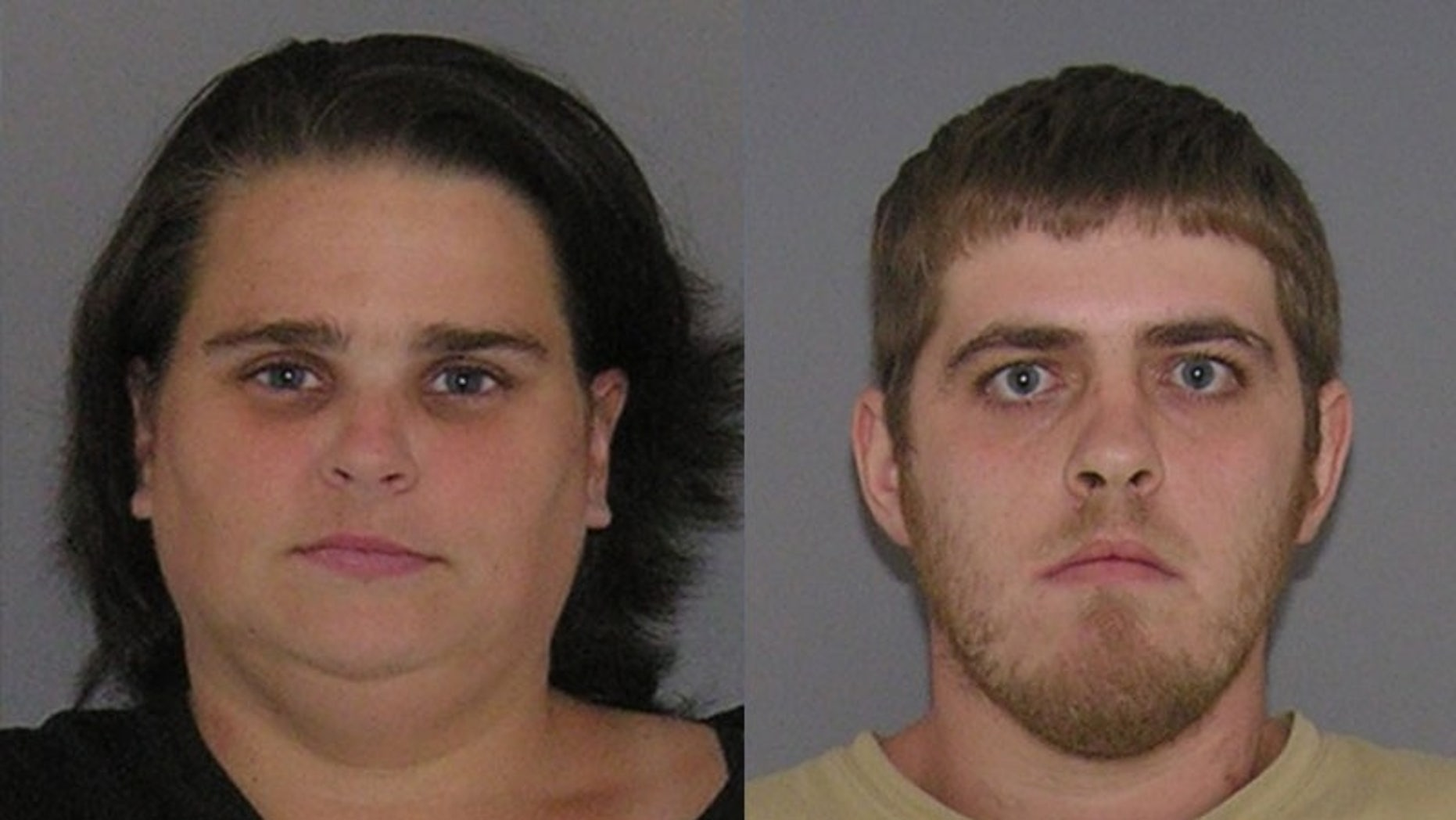 Jamie Carver (left) and James Howell (right) were arrested for allegedly binding and gagging twin boys in their apartment.