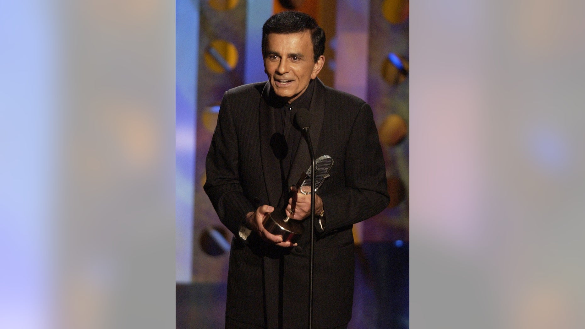 Oct. 27, 2003. Casey Kasem accepts a radio icon award during the Radio Music Awards in Las Vegas.