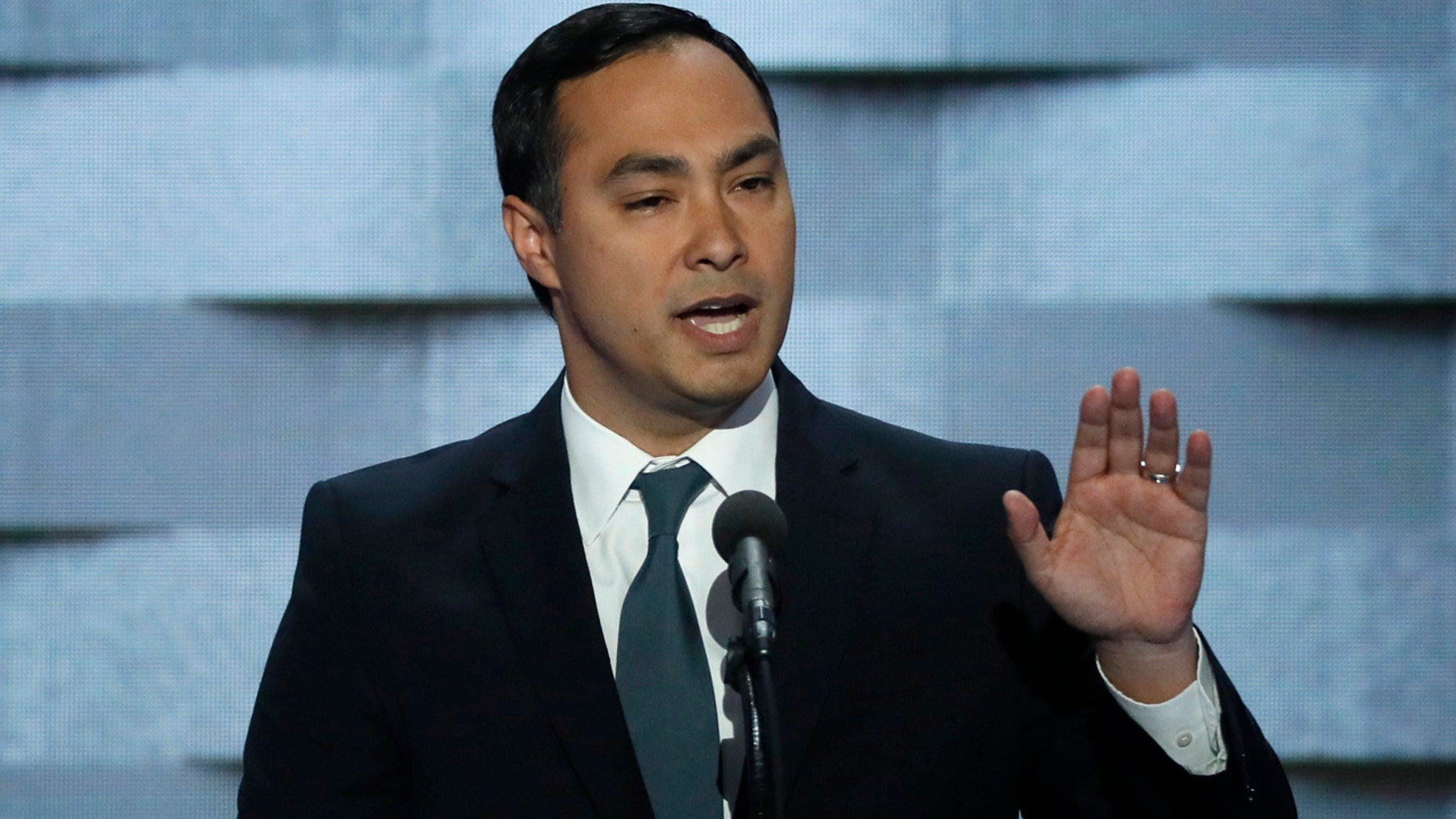 U.S. Representative Joaquin Castro (D-TX) speaks during the final night of the Democratic National Convention in Philadelphia, Pennsylvania, U.S. July 28, 2016