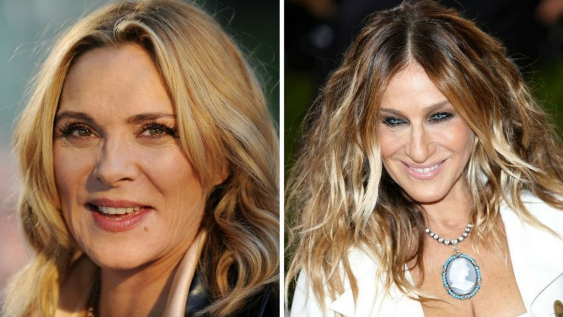 """Sarah Jessica Parker, right, addressed the long-rumored feud between her and former """"Sex and the City"""" co-star Kim Cattrall in a new interview with Extra published on Tuesday."""
