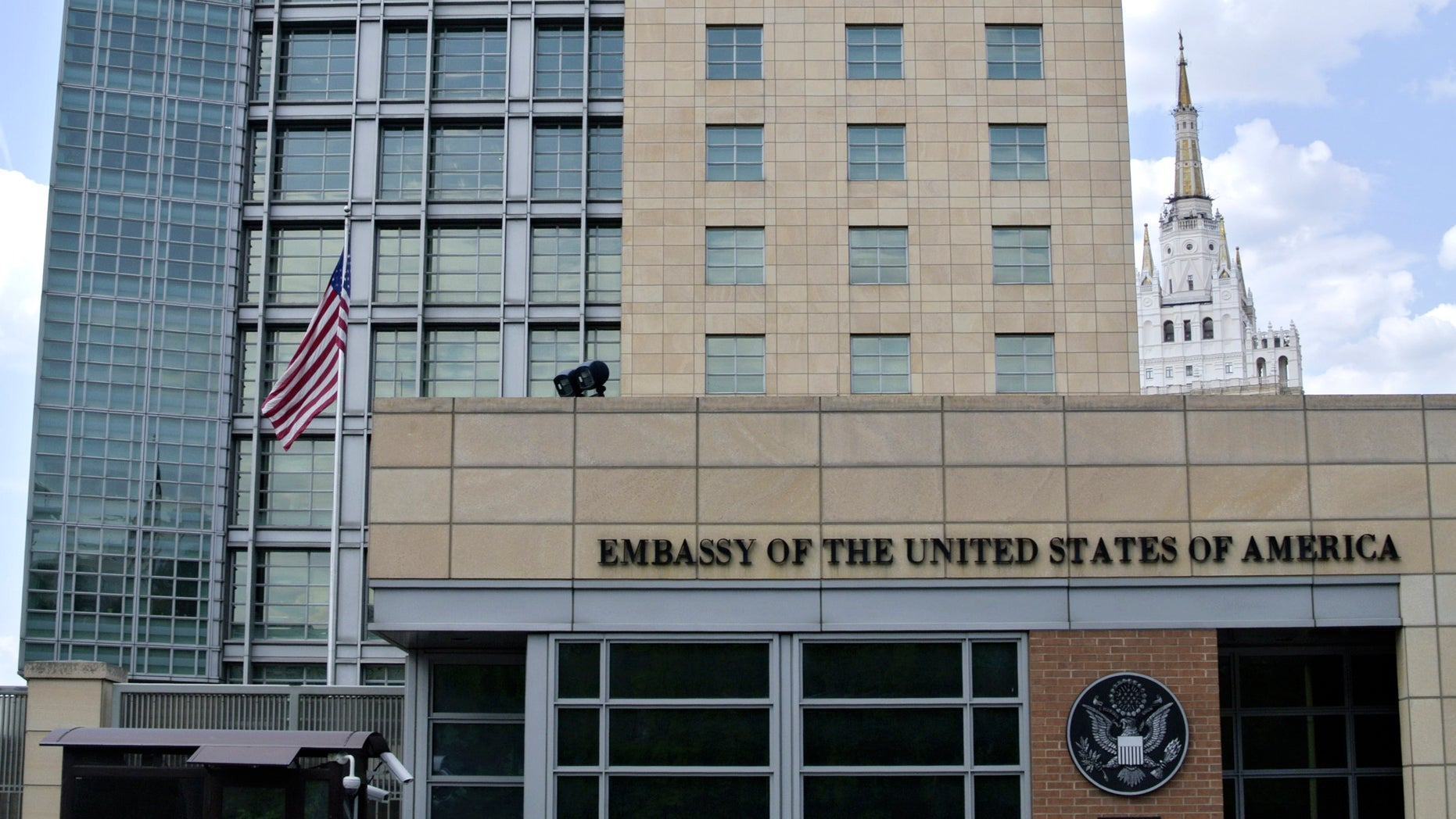 The U.S. Embassy in downtown Moscow.