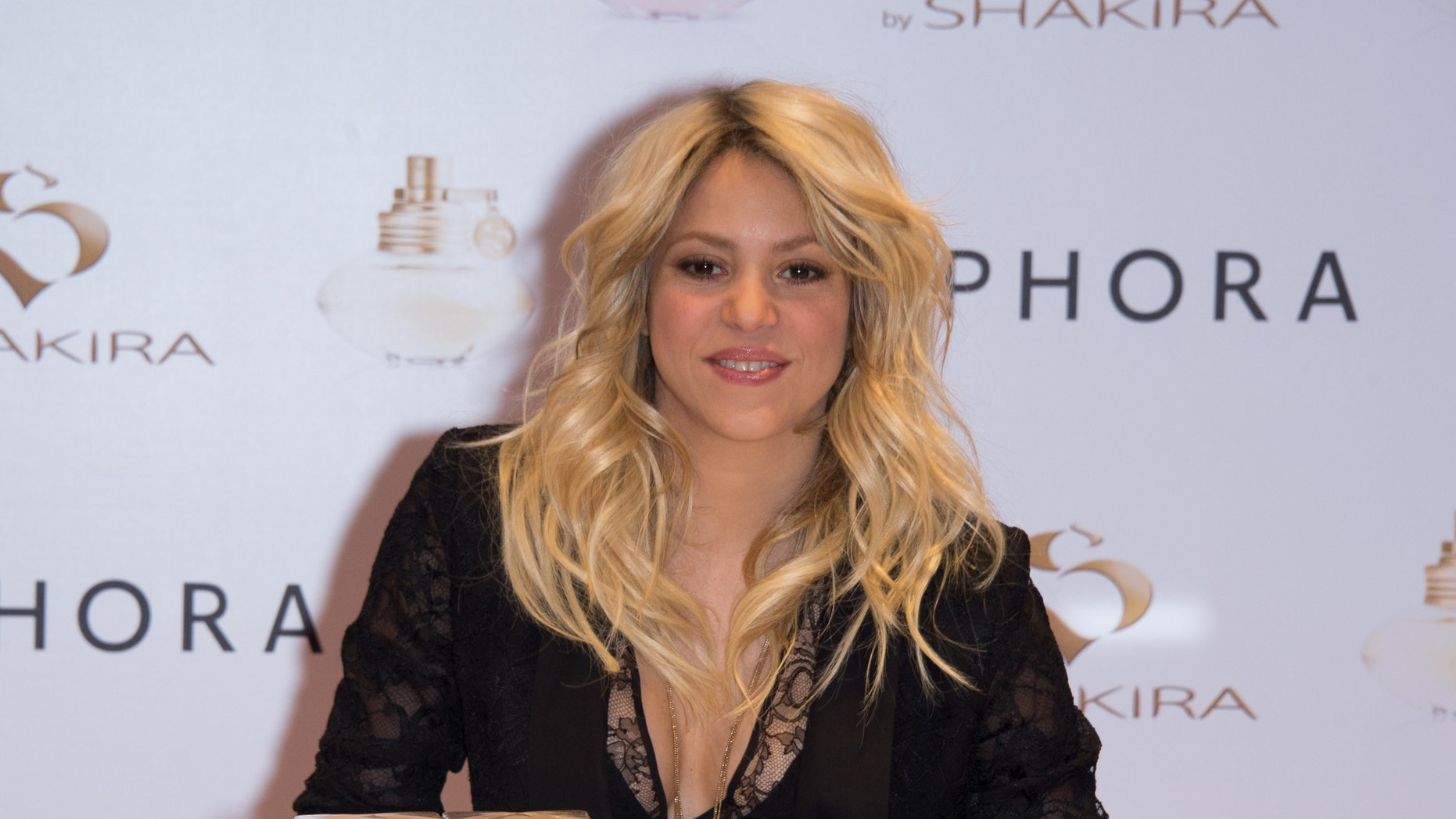 Shakira attends the 'S By Shakira' Perfume Launch at Sephora Champs-Elysees on March 27, 2013 in Paris, France.