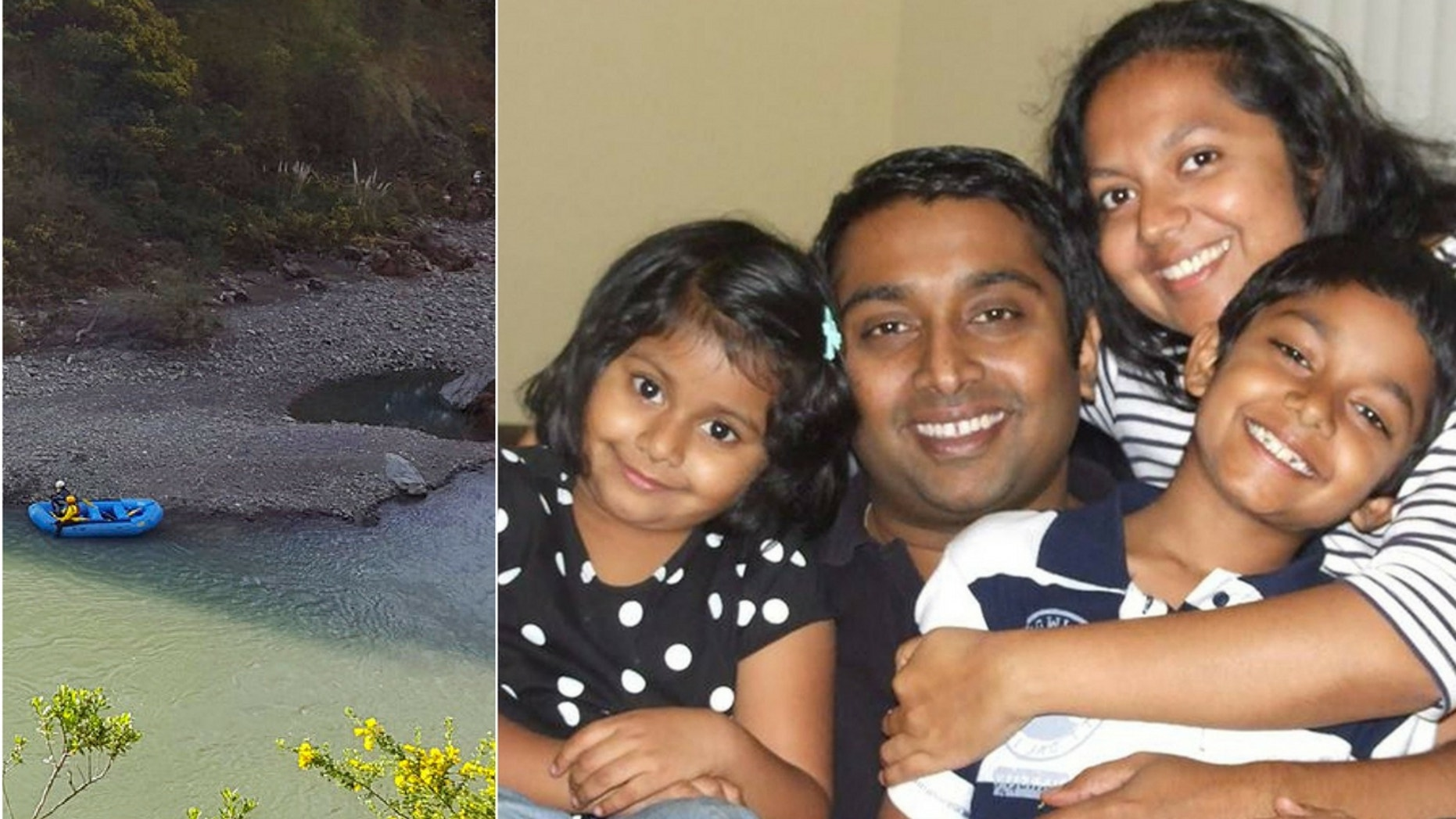 The bodies of Soumya Thottapilly, 38 (left); Sandeep Thottapilly, 41 (middle); Saachi Thottapilly, 9 (right) have been since they were reported missing on April 8. Police are still searching for 12-year-old Siddhant Thottapilly (lower left).
