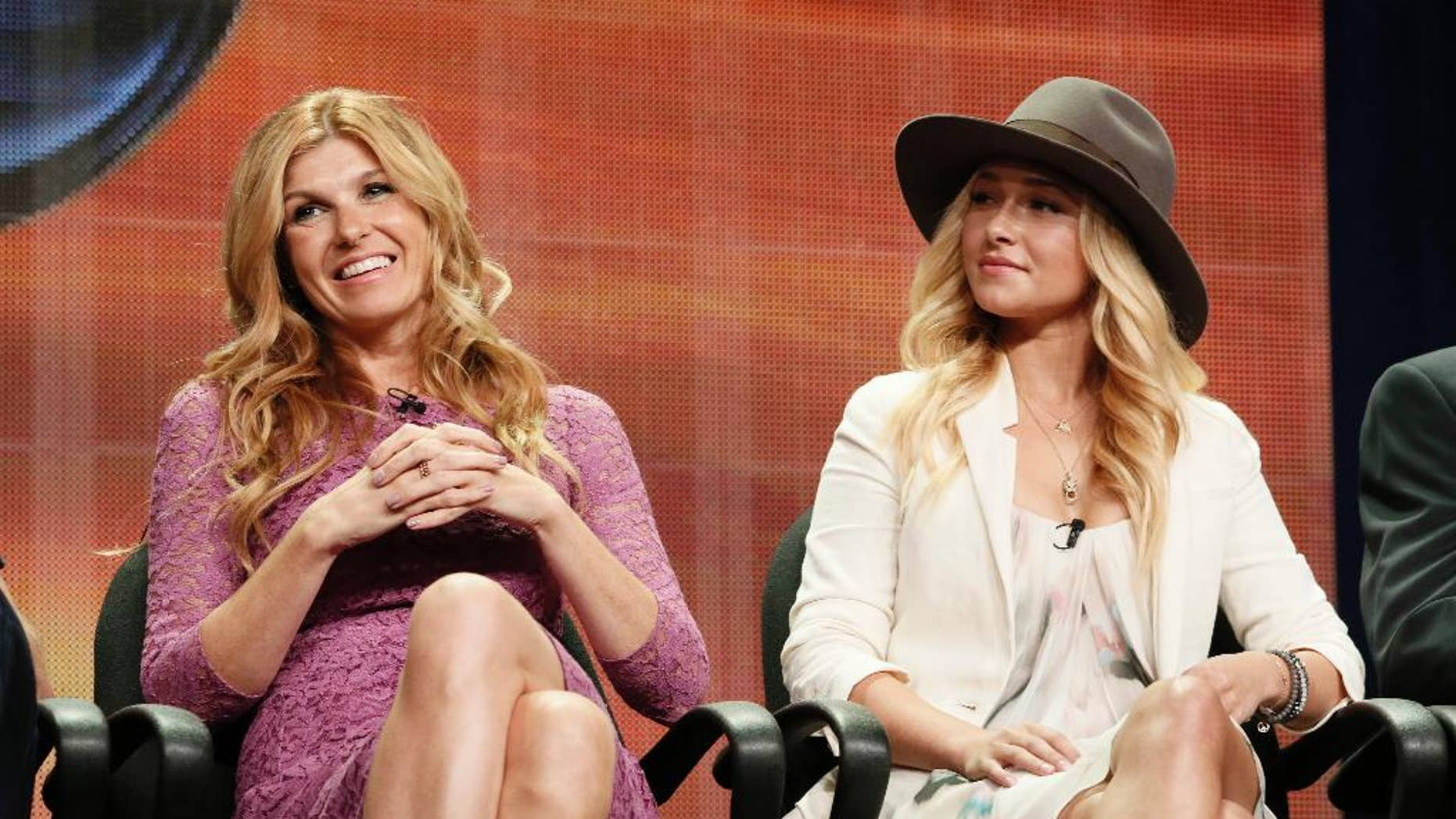 "FILE - In this July 27, 2012 file photo, Connie Britton and Hayden Panettiere attend the ""Nashville"" panel at the Disney ABC TCA Day 2 at the Beverly Hilton Hotel, in Beverly Hills, Calif. The television series ""Nashville"" is getting a second life. The country-oriented CMT network said Friday, June 10, 2016, it will make a fifth season of the music-oriented drama, which had been canceled less than a month ago by ABC. (Photo by Todd Williamson/Invision/AP, File)"