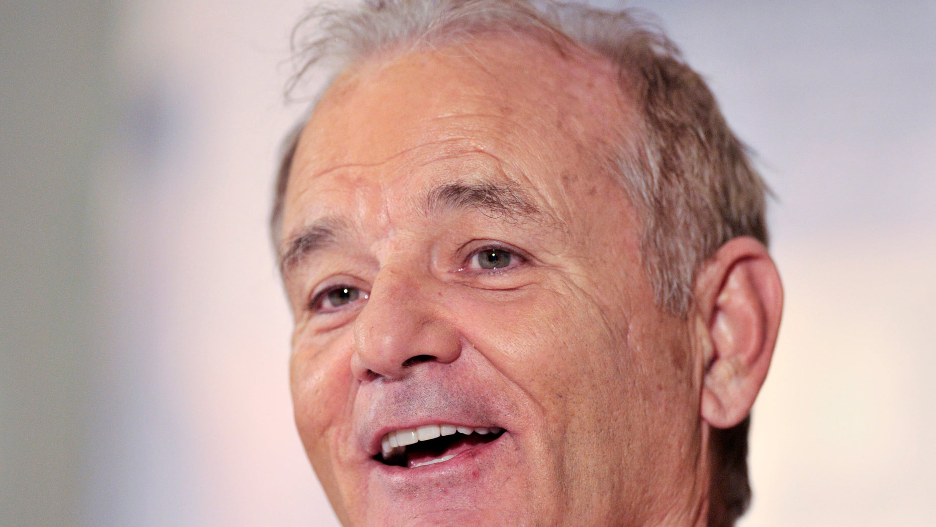 """September 10, 2012.  Bill Murray smiles during the news conference for the film """"Hyde Park on Hudson"""" at the 37th Toronto International Film Festival."""