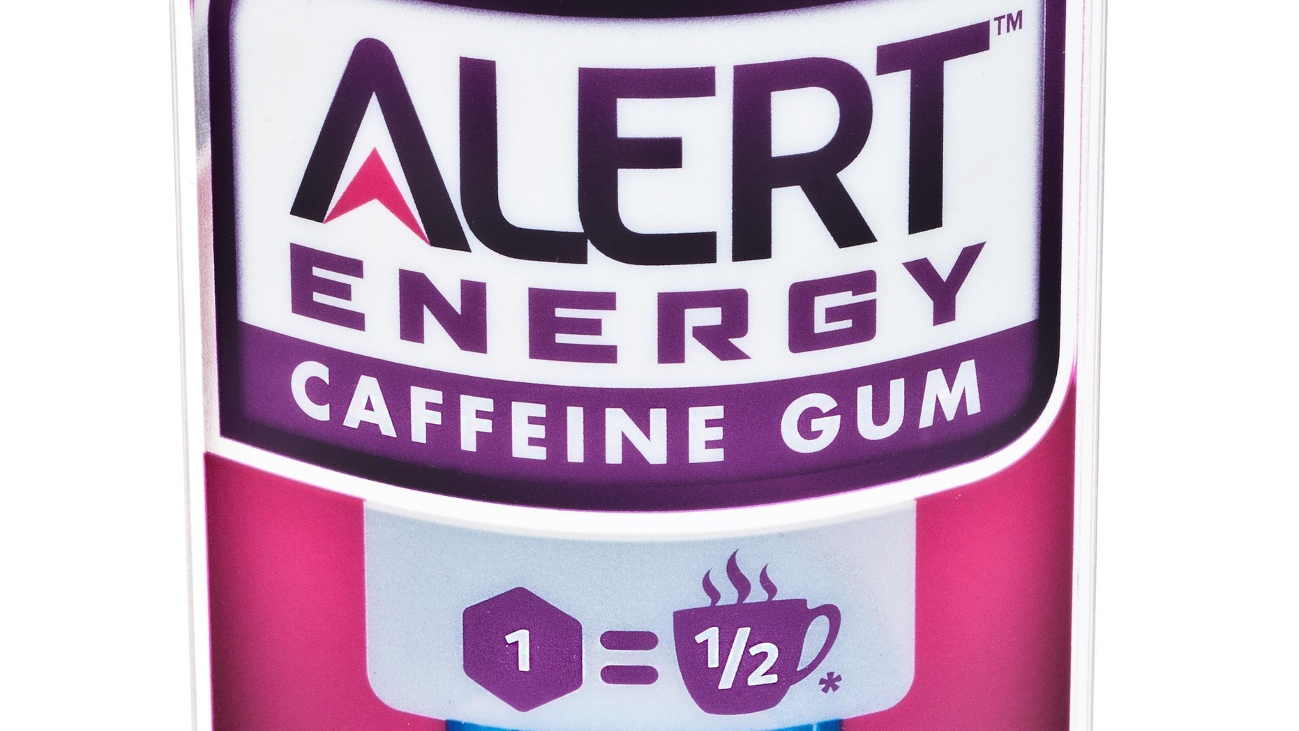 This product image provided by the Wm. Wrigley Jr. Company shows packaging for Alert Energy Caffeine Gum. (AP Photo/Wm. Wrigley Jr. Company)