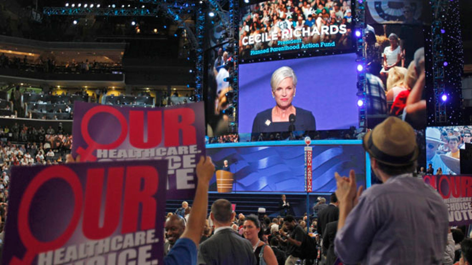 Sept. 5, 2012: Cecile Richards, president of Planned Parenthood Federation of America, addresses the second session of the Democratic National Convention in Charlotte, N.C.