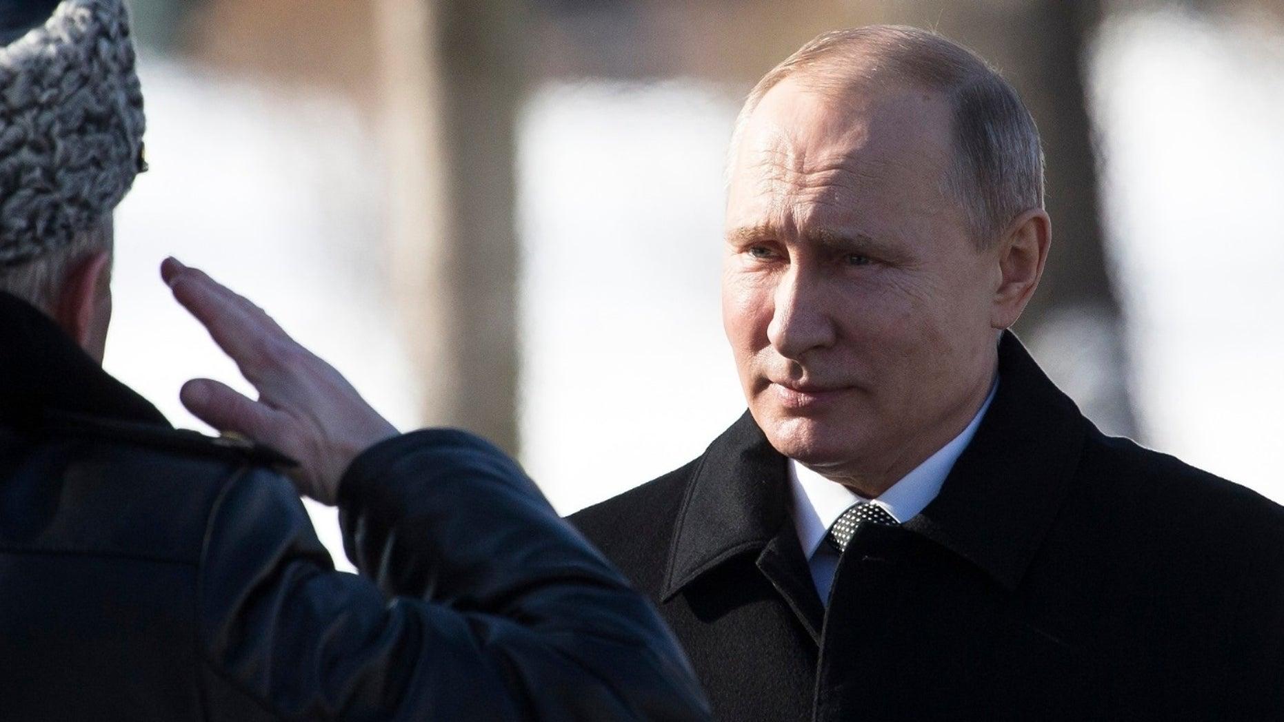 Russian President Vladimir Putin seen here on February 23, 2018.