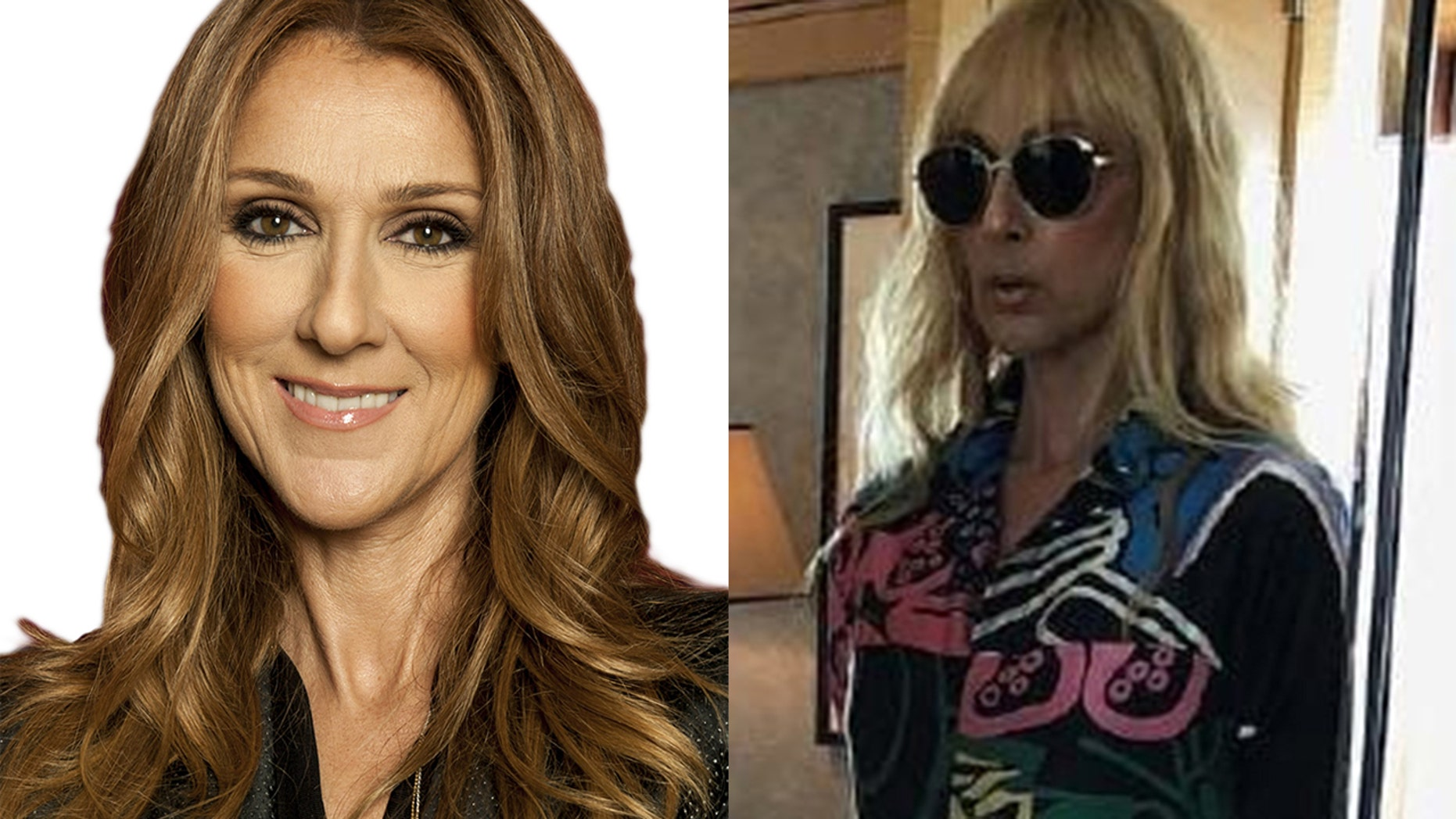 Celine Dion shocked fans with her new look, right.