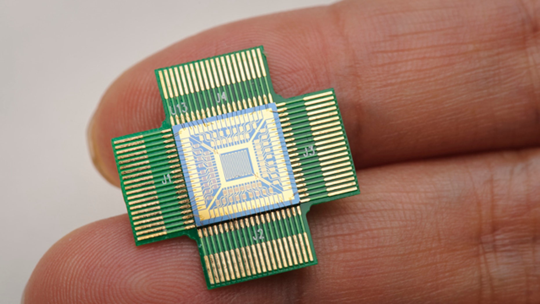A silicon-based sensing chip, which consists of 64 nanosensors and is less than one square centimeter, can turn a cell phone into a portable poison detector.