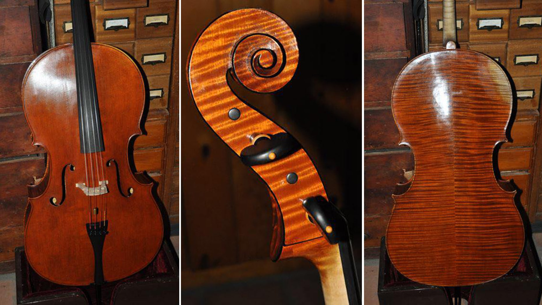 A custom cello valued at $100,000 was stolen Wednesday from the San Diego hotel room of a prominent Los Angeles Opera musician.