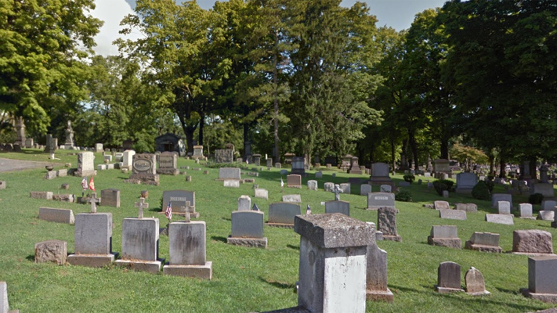 Police said a substitute teacher was found having sex with a student at Easton Cemetery.