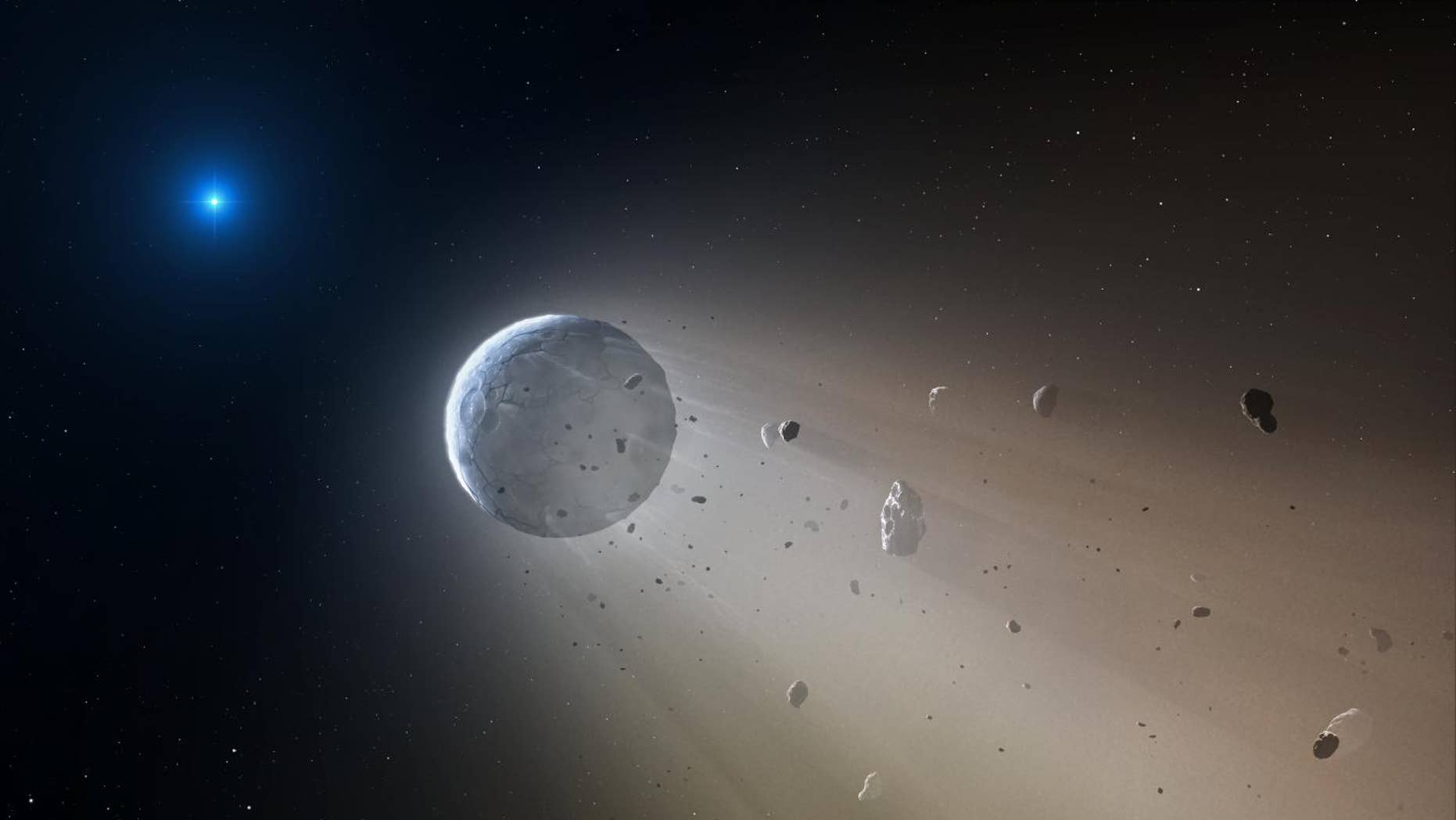 Ceres-like asteroid artist conception