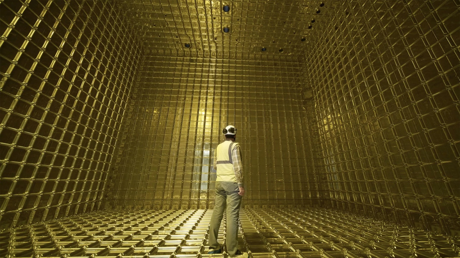 This ProtoDUNE detector was filled with 800 tons of liquid argon. Credit: CERN