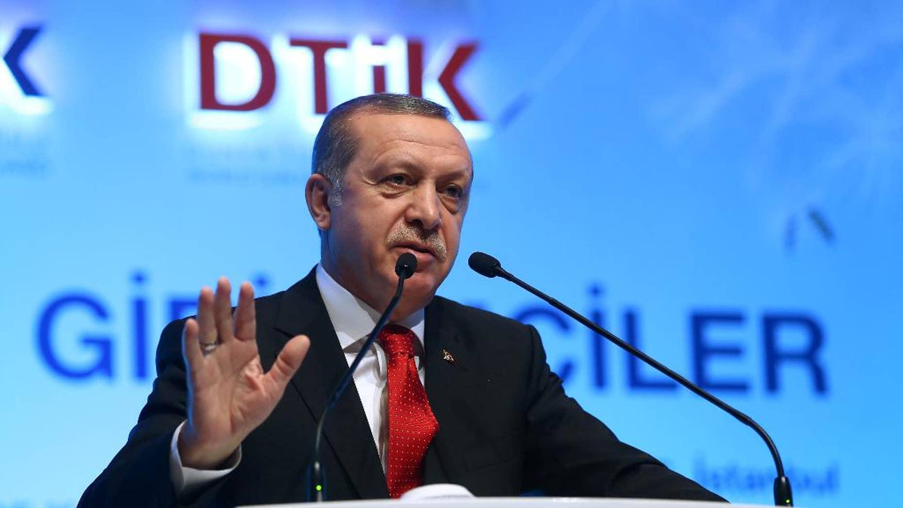 Turkish President Recep Tayyip Erdogan on Saturday.