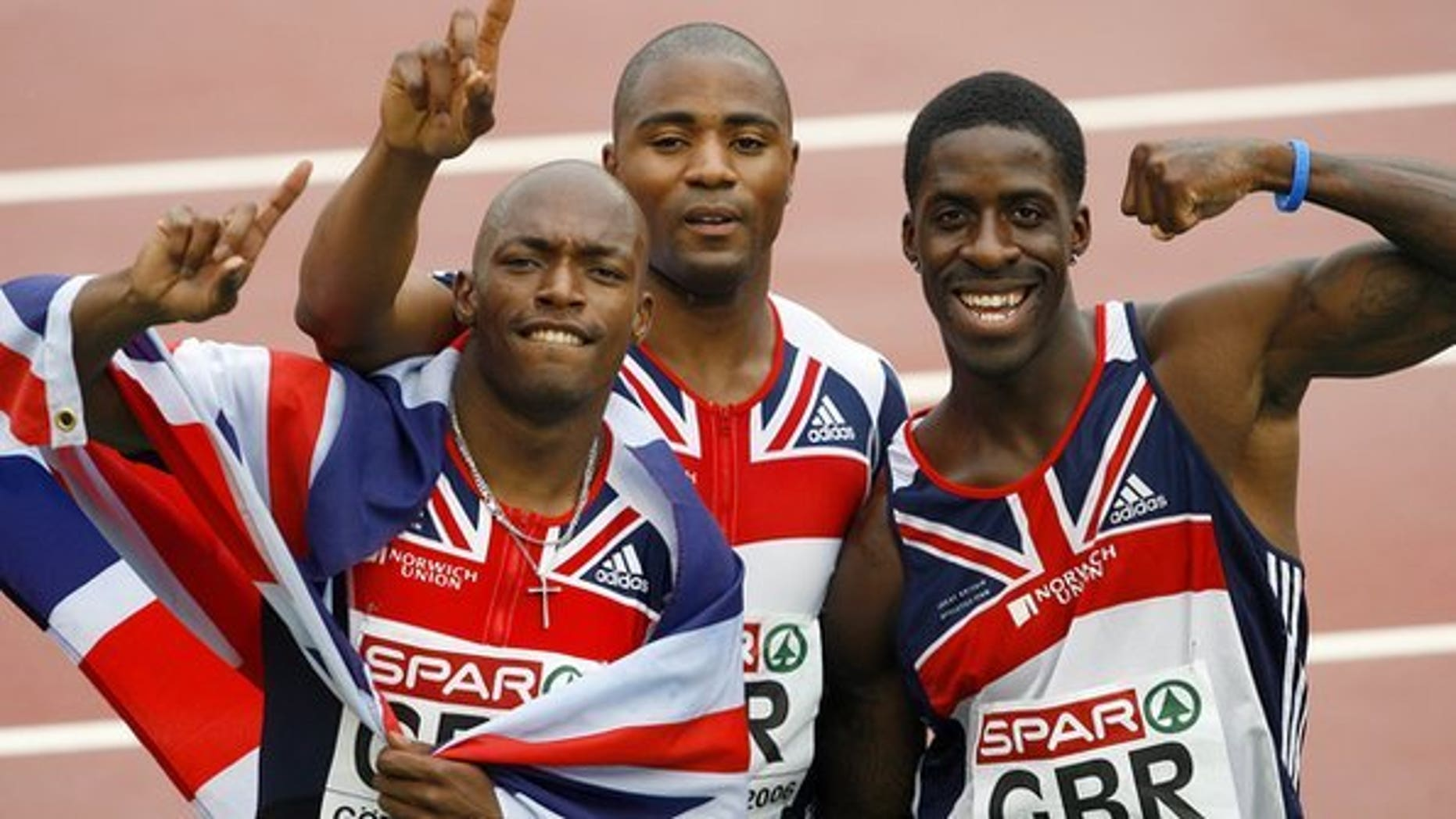 Dwain Chambers (right) could still compete at the London 2012 Olympics after his drugs ban.