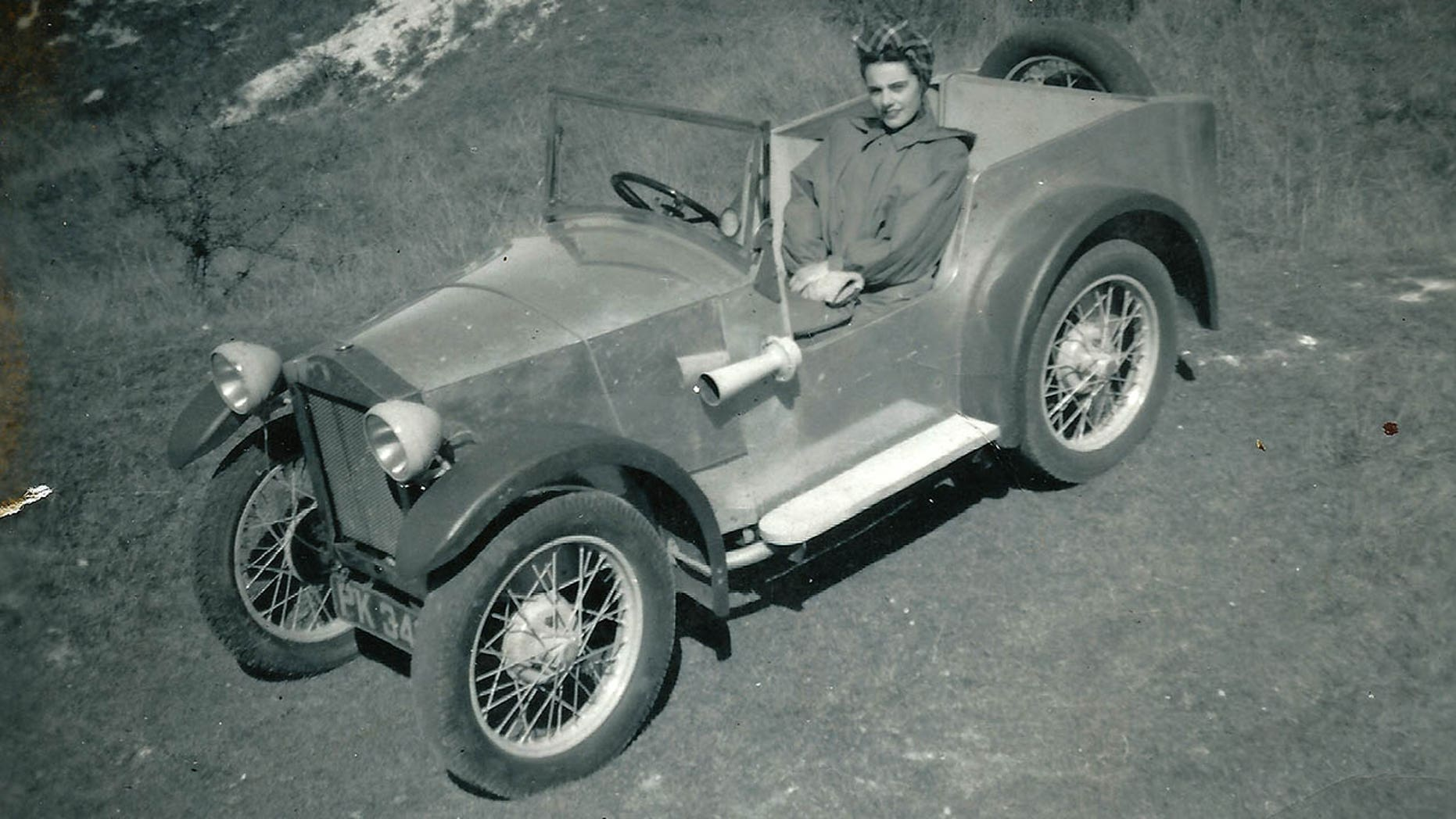 Colin Chapman built the Mark I in a garage owned by the parents of her future wife, Hazel.