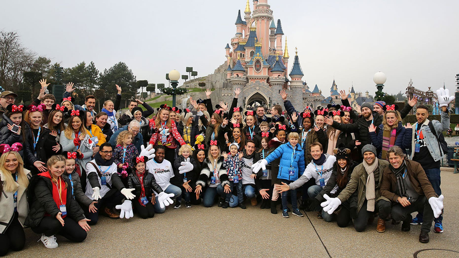 Young people and families who were affected by the Manchester Arena bombing in May were treated to pre-Christmas outing at Disneyland Paris.