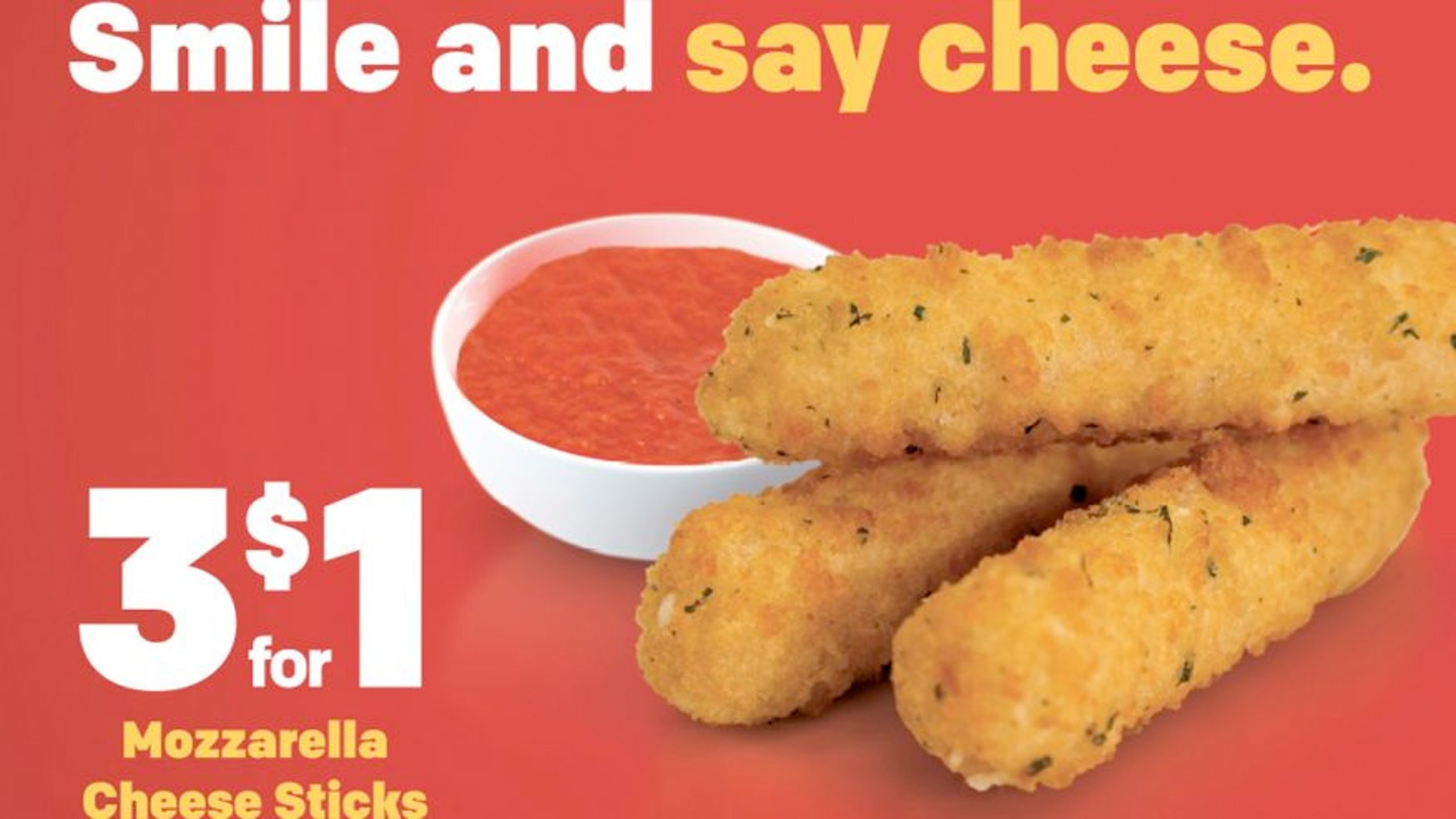 """The company says the sticks are """"made with 100% real and melty mozzarella cheese."""""""