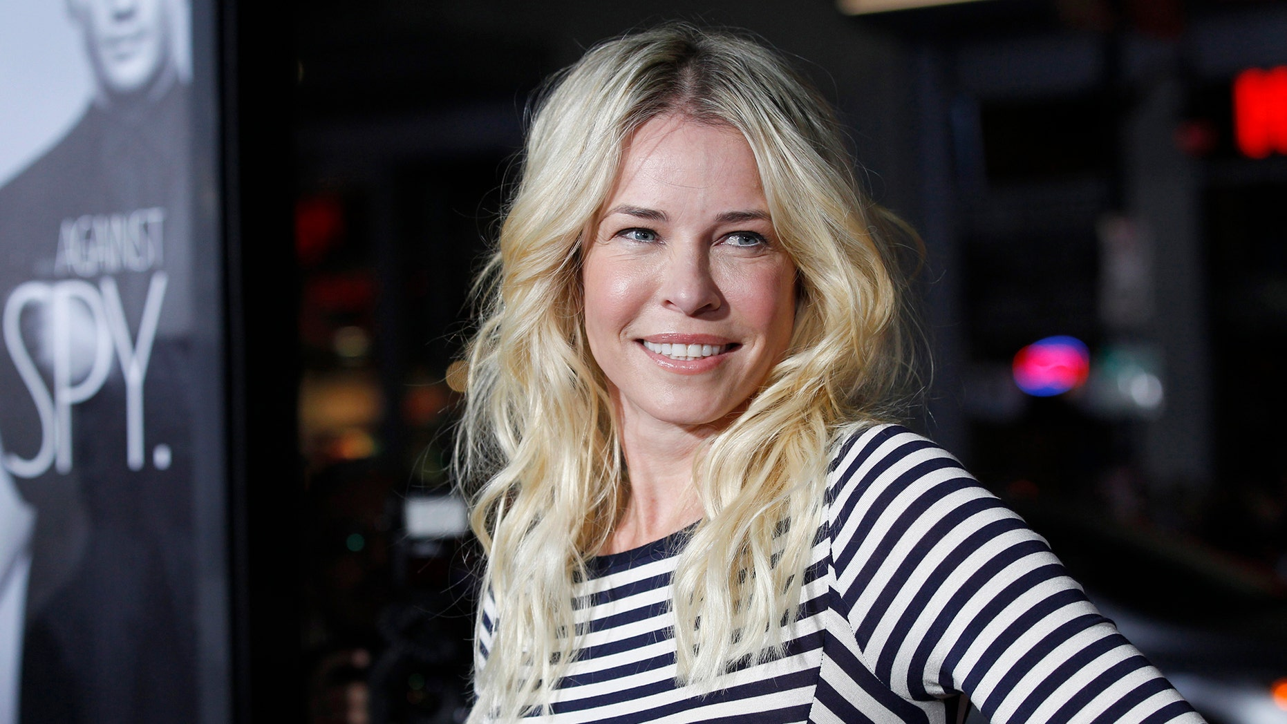 """Cast member Chelsea Handler poses at the premiere of """"This Means War"""" at the Grauman's Chinese theatre in Hollywood, California February 8, 2012. The movie opens in the U.S. on February 17.  REUTERS/Mario Anzuoni  (UNITED STATES-Tags: ENTERTAINMENT) - RTR2XIV7"""