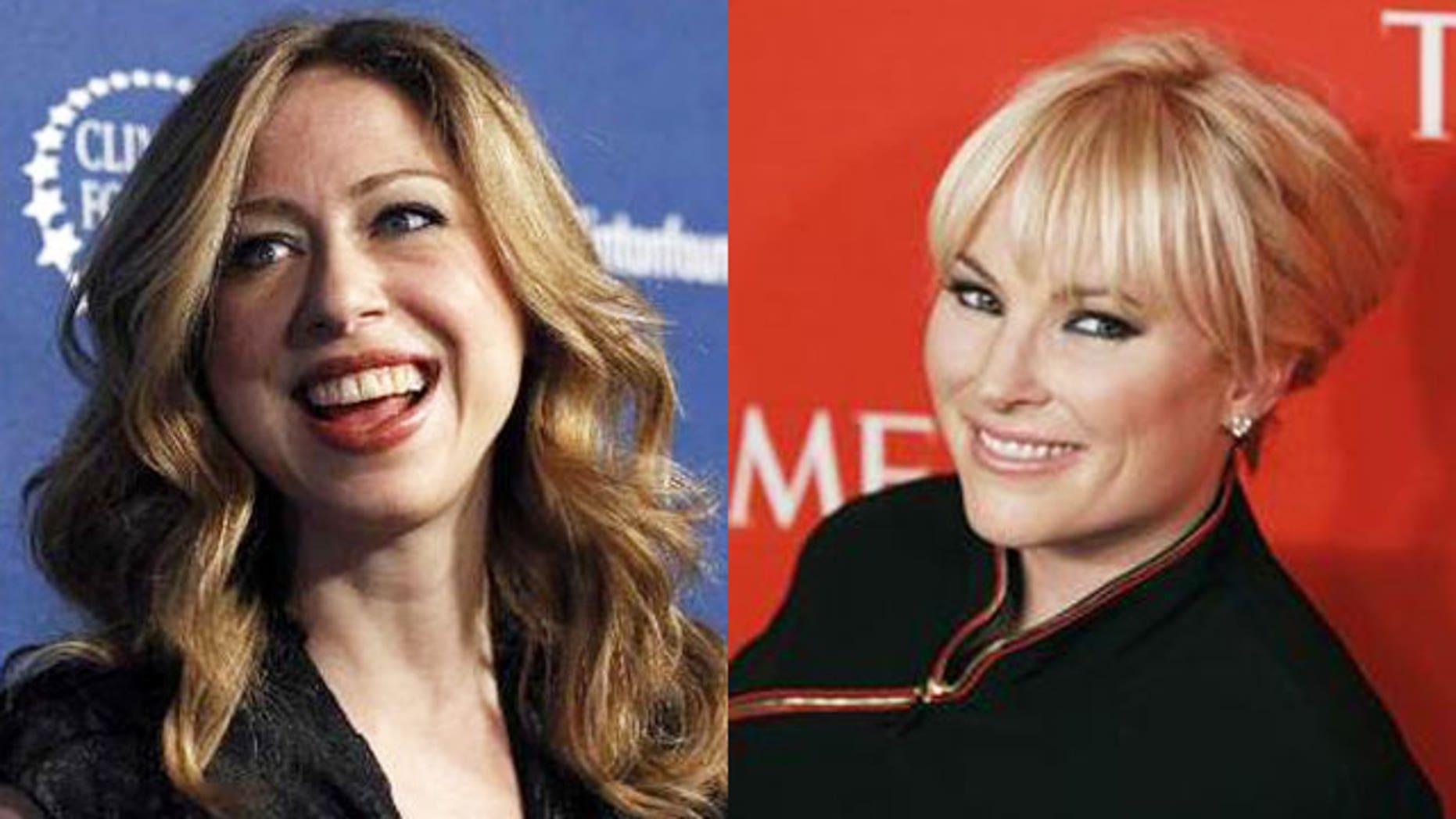 Chelsea Clinton and Meghan McCain both now work for NBC News.