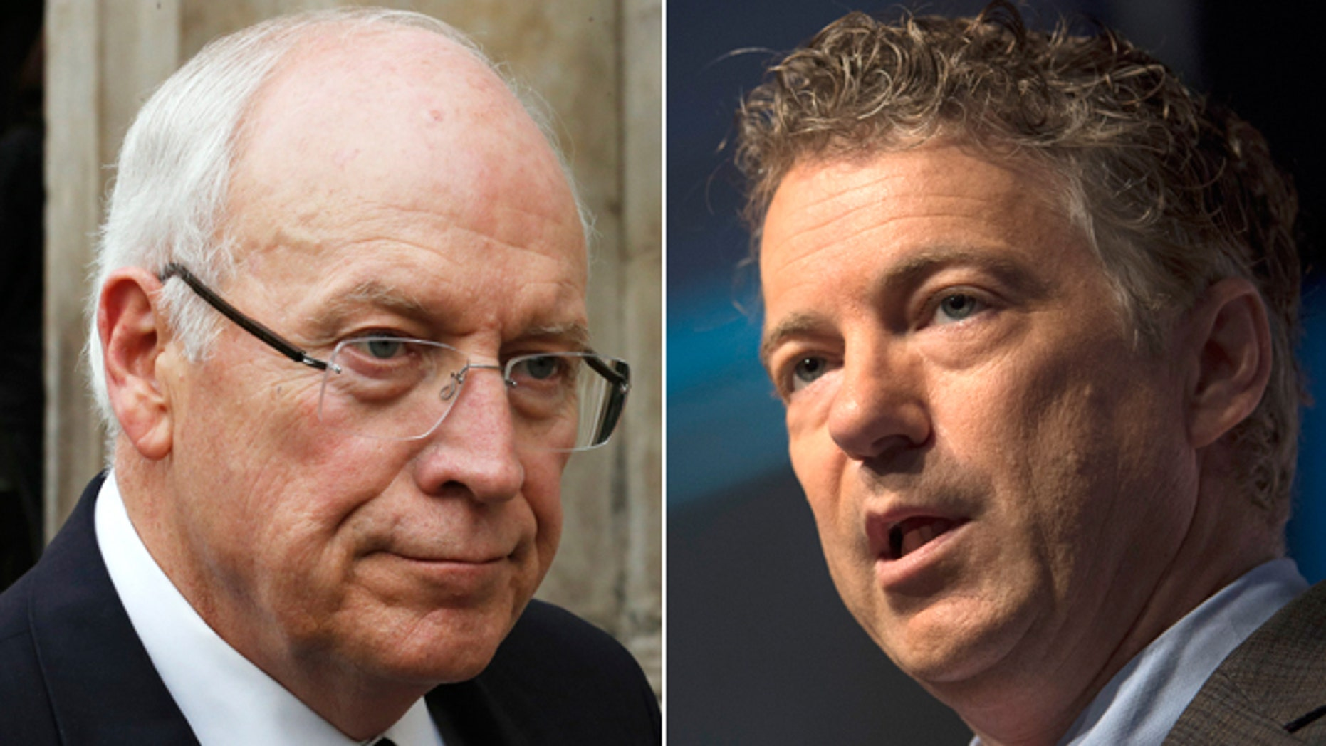 FILE: Former Vice President Dick Cheney and Kentucky Sen. Rand Paul, Republicans.