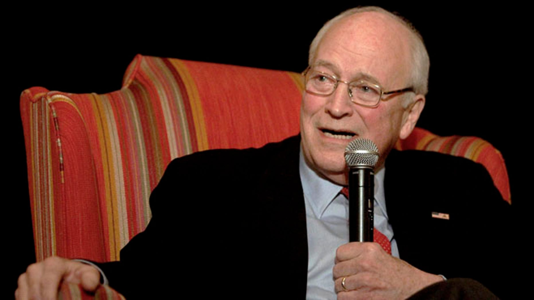 FILE: April 14, 2012: Former Vice President Dick Cheney speaks at the Wyoming Republican state convention in Cheyenne, Wyoming.