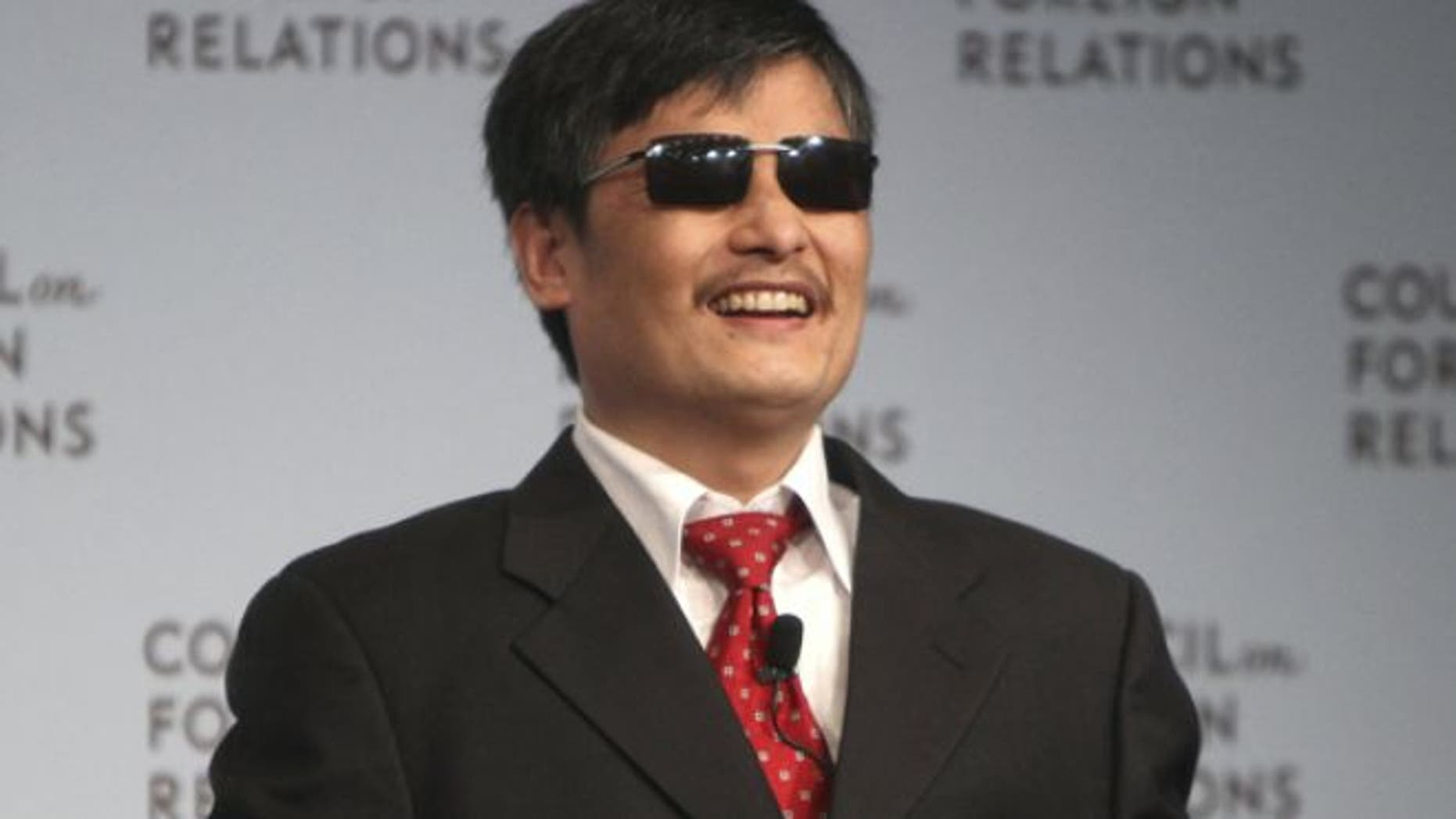 May 31, 2012: Chen Guangcheng speaks at the Council on Foreign Relations in New York.