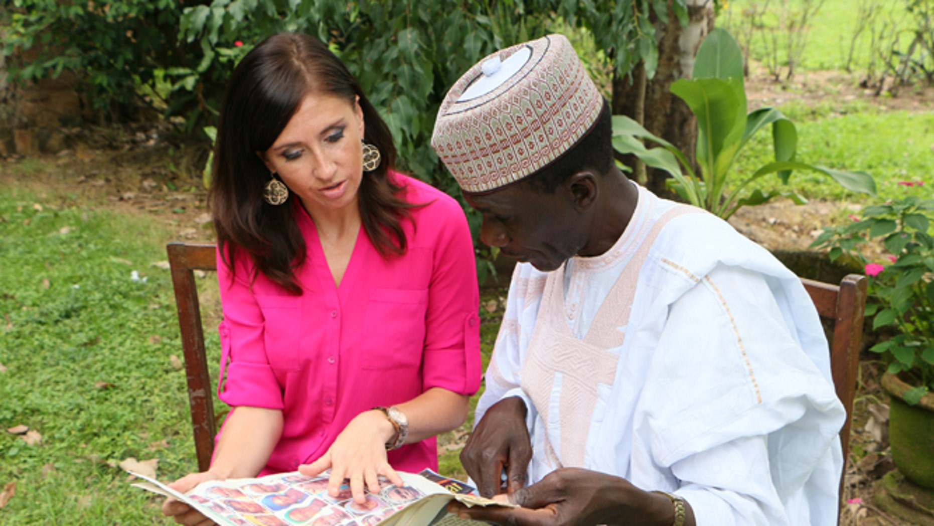 The author talking with a Chibok father in Nigeria. (Courtesy Open Doors USA)