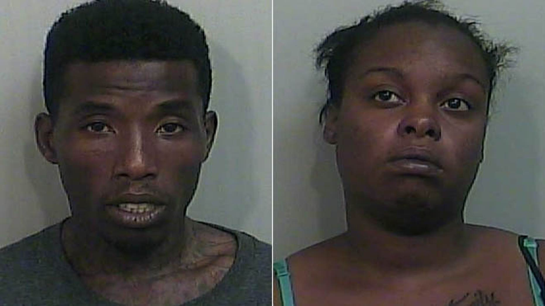 From the left, Vonta McClellan and India Kimble have been charged with capital murder in the death of the woman's five-year-old son.