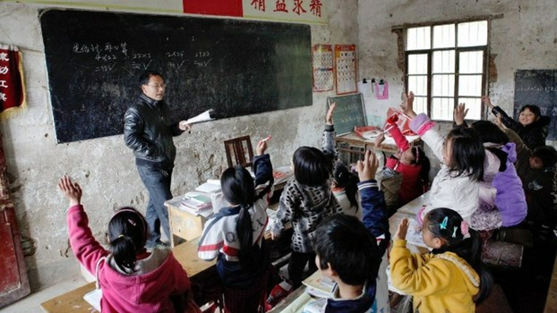 A classroom in central China's Henan province in 2013.