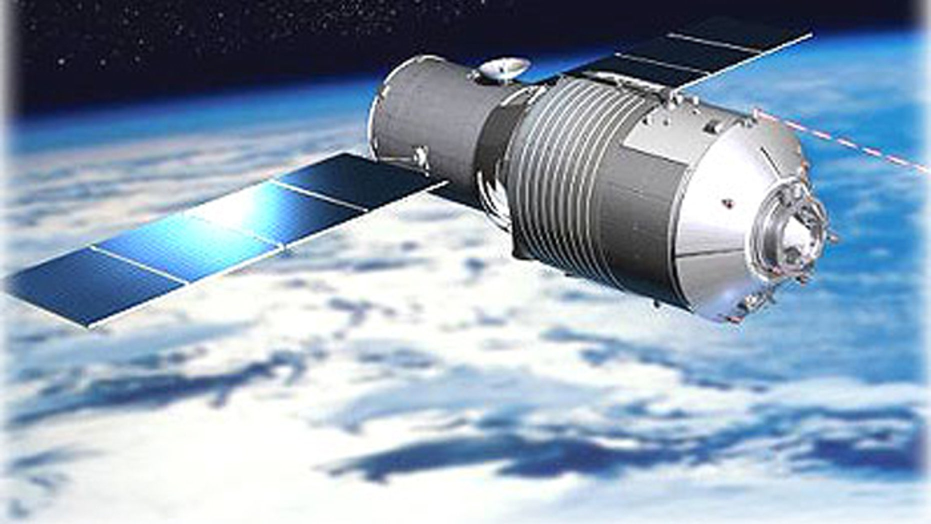 An artist's illustration of China's Tiangong-1 space lab, which is expected to fall back to Earth in early 2018.