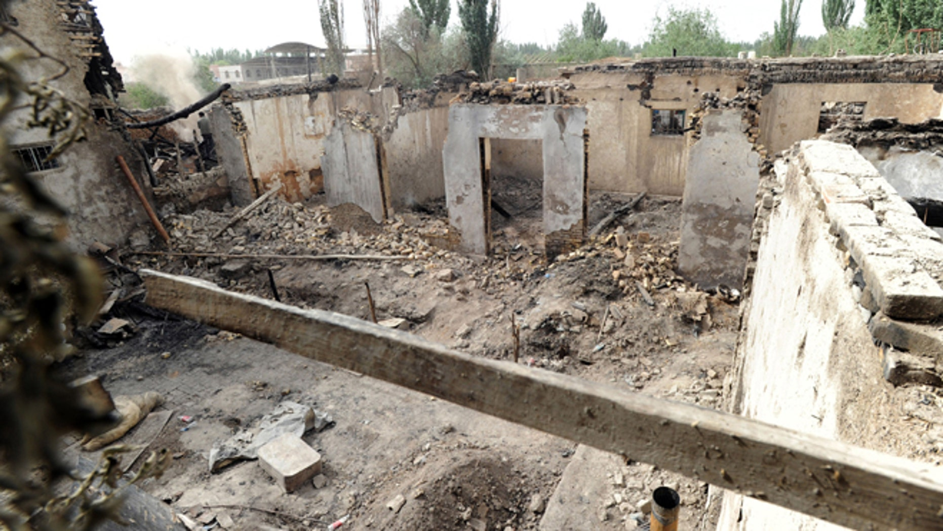 April 25, 2013: In this photo, houses destroyed in a violent clash are left in Kashgar, in Chinas northwestern region of Xinjiang. The violent clash on Tuesday, April 23 between authorities and assailants described as a terrorist gang left 21 people dead in Xinjiang, the local government said Wednesday. China chided the U.S. on Thursday, April 25 for questioning the deadly clash on the Chinese Central Asian frontier that Beijing said was terrorism but that Washington said should be investigated.