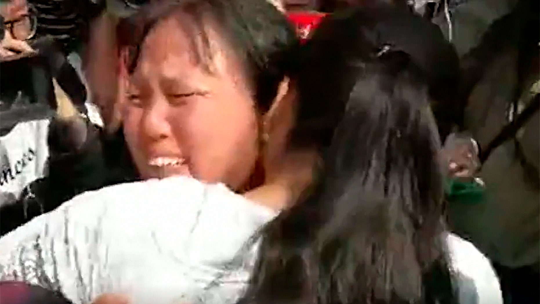 Kang Ying and her mother, Liu Dengying, reunited after 24 years.