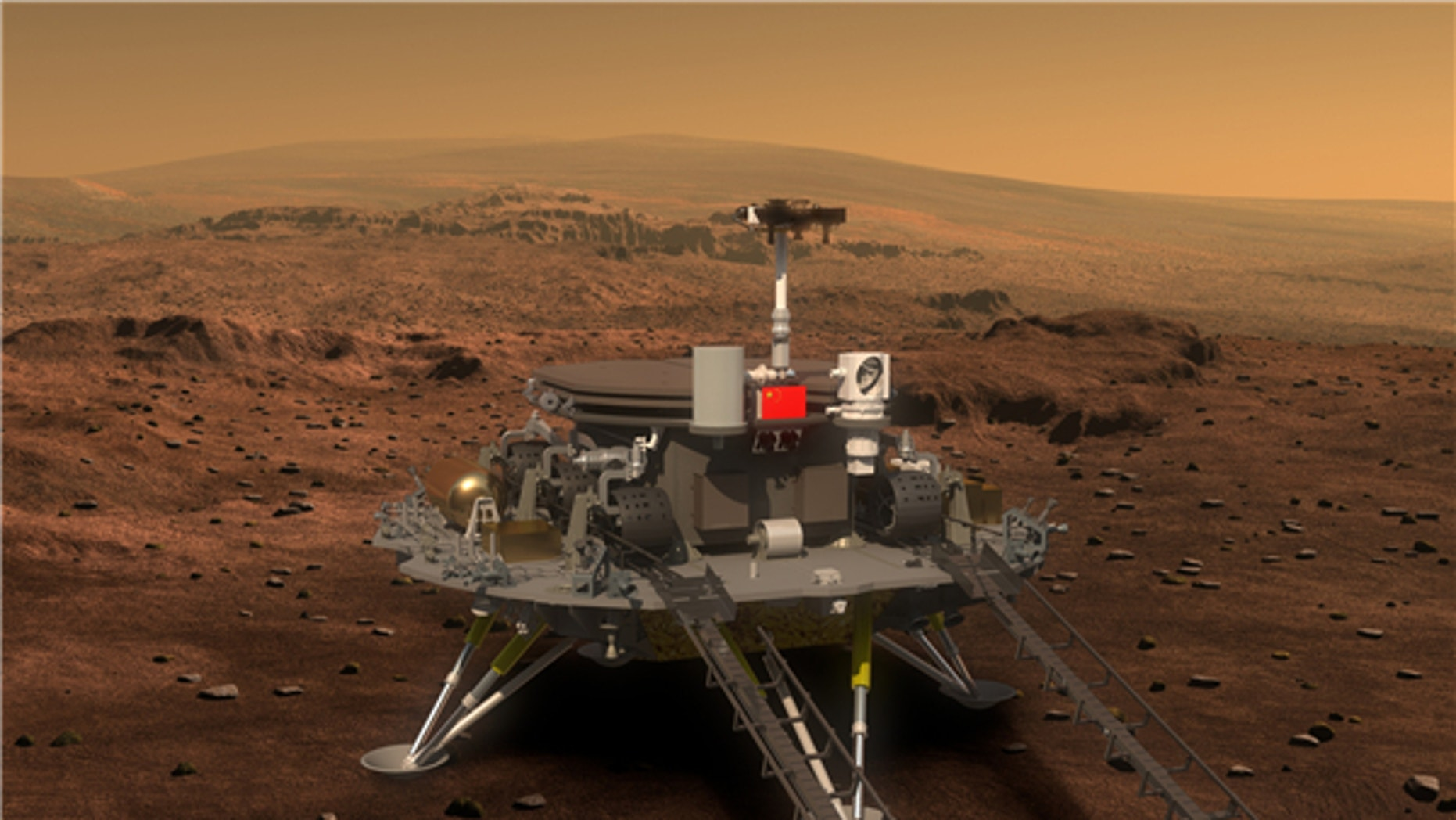 China's Mars lander and rover concept design (Xinhua).