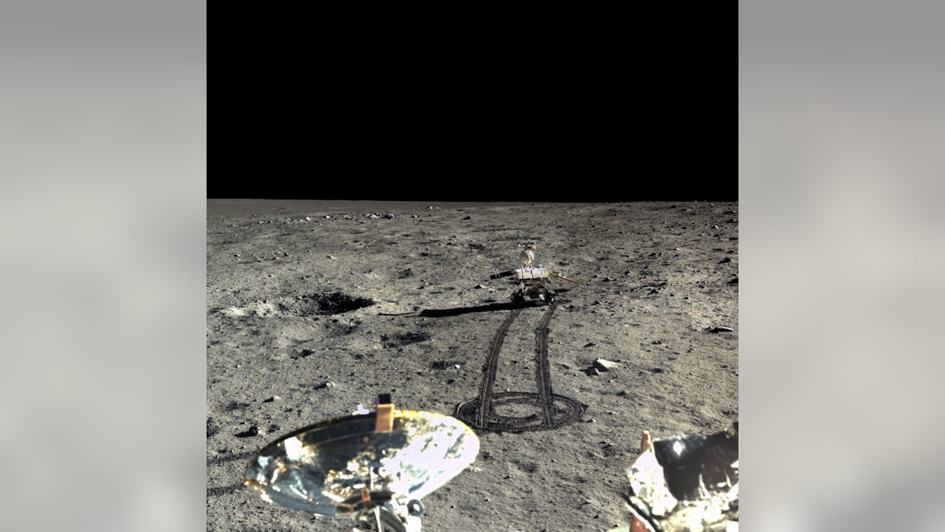 China's  Yutu moon rover (Chinese Academy of Sciences/China National Space Administration /The Science and Application Center for Moon and Deepspace Exploration/Emily Lakdawalla)
