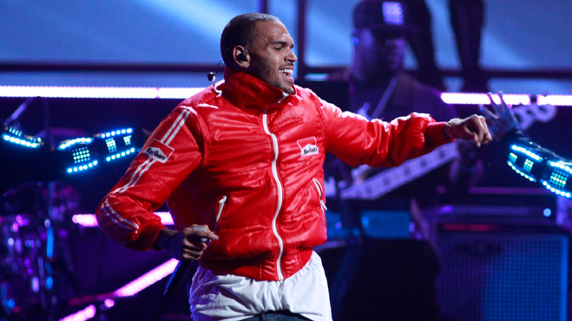 Sept. 20, 2013: Singer Chris Brown performs during the iHeartRadio Music Festival at the MGM Grand Garden Arena in Las Vegas, Nevada.