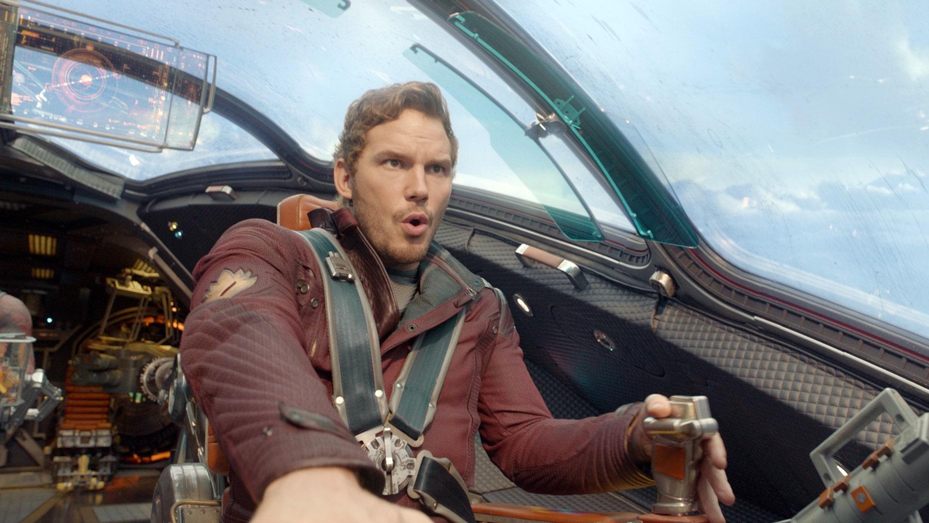 "Chris Pratt in ""Guardians of the Galaxy."""
