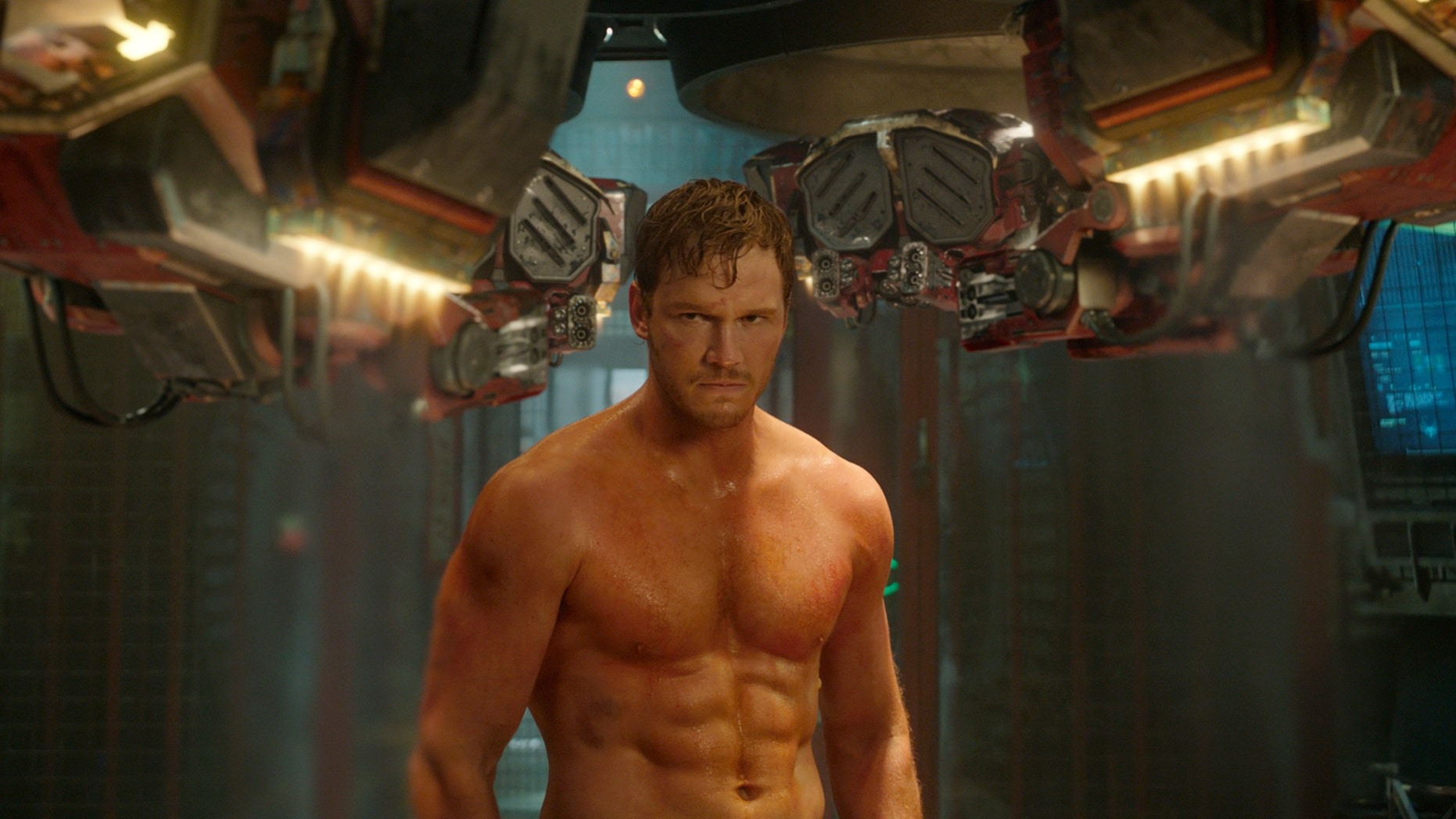 """Chris Pratt in a scene from """"Guardians Of The Galaxy."""""""
