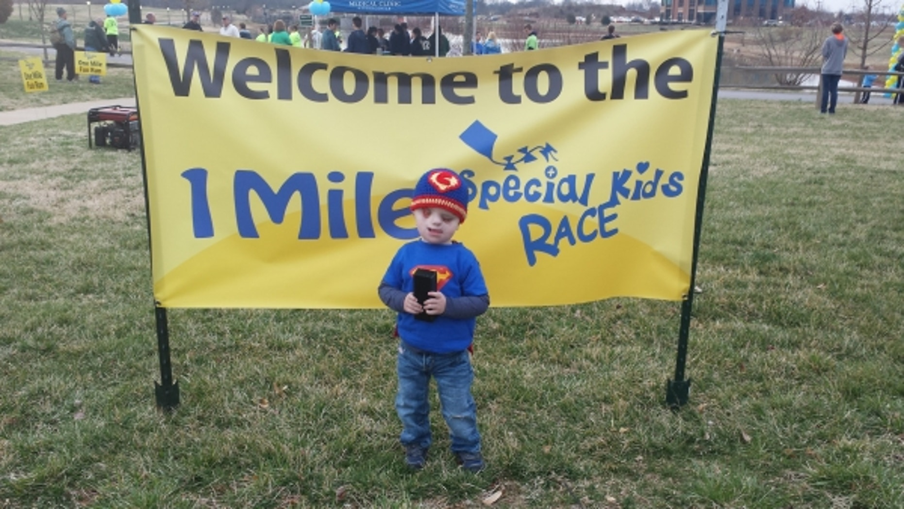 Christian Buchanan ahead of the Special Kids Race.